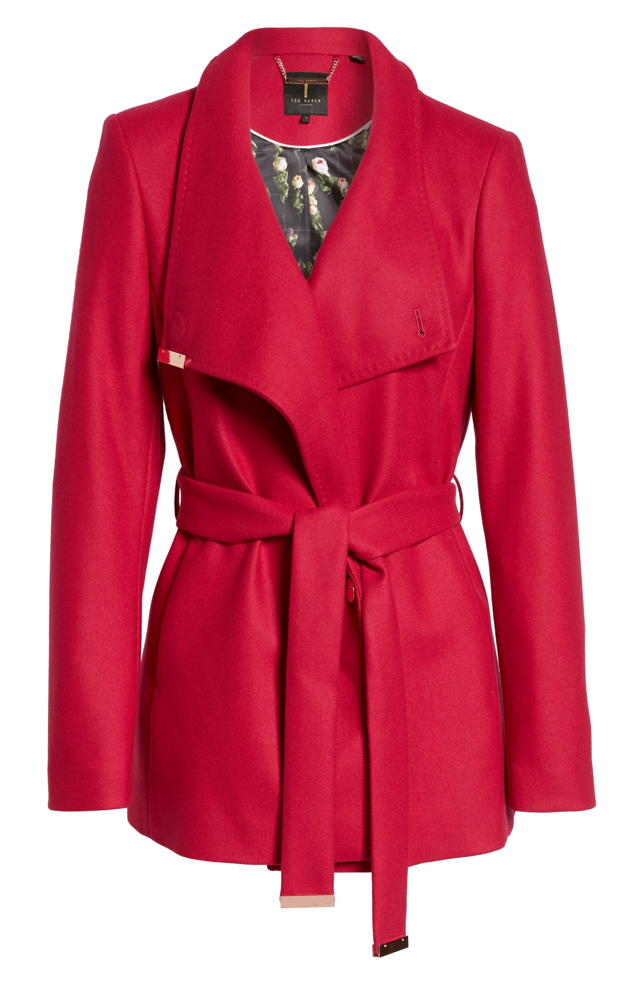 Alternate Image 6  - Ted Baker London Wool Blend Short Wrap Coat
