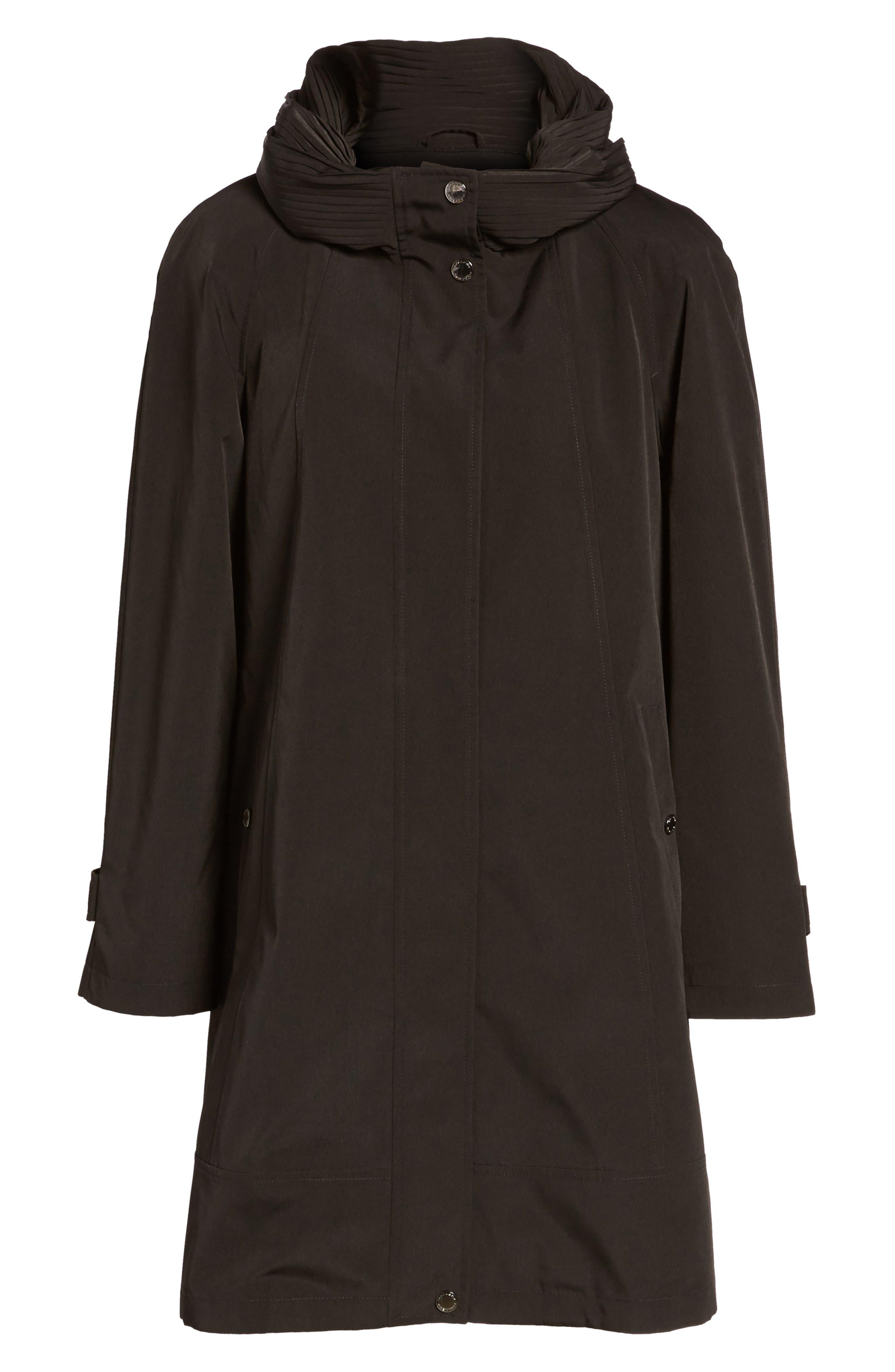 Alternate Image 6  - Gallery A-Line Raincoat (Regular & Petite)