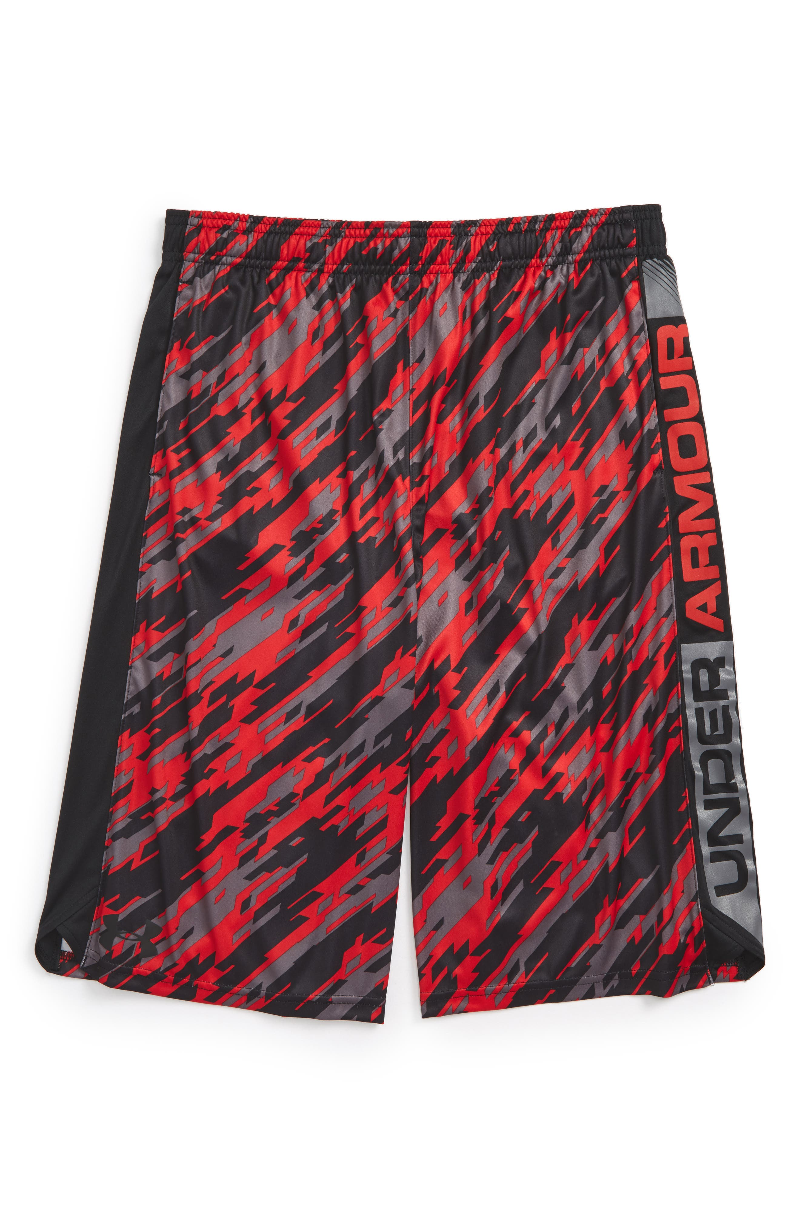 Eliminator Athletic HeatGear<sup>®</sup> Shorts,                         Main,                         color, Red/ Black/ Red