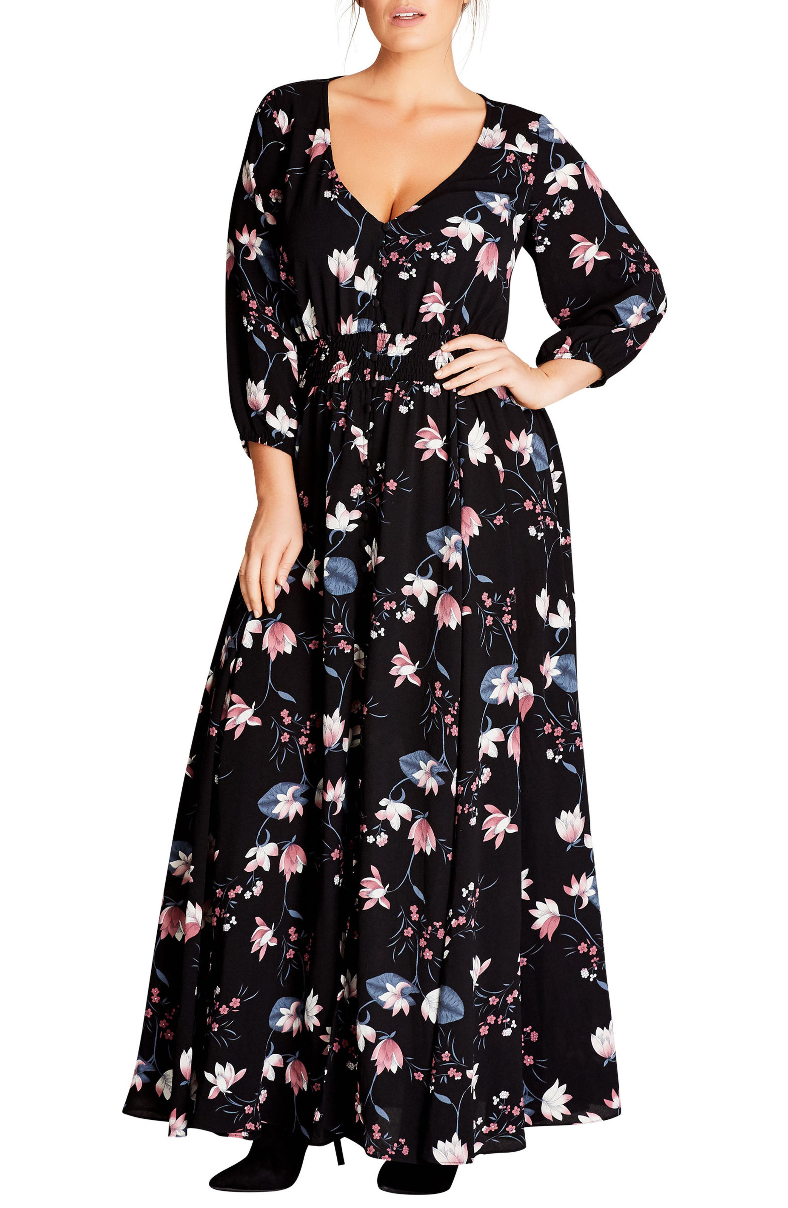 Sweet Jasmine Maxi Dress,                         Main,                         color, Sweet Jasmine