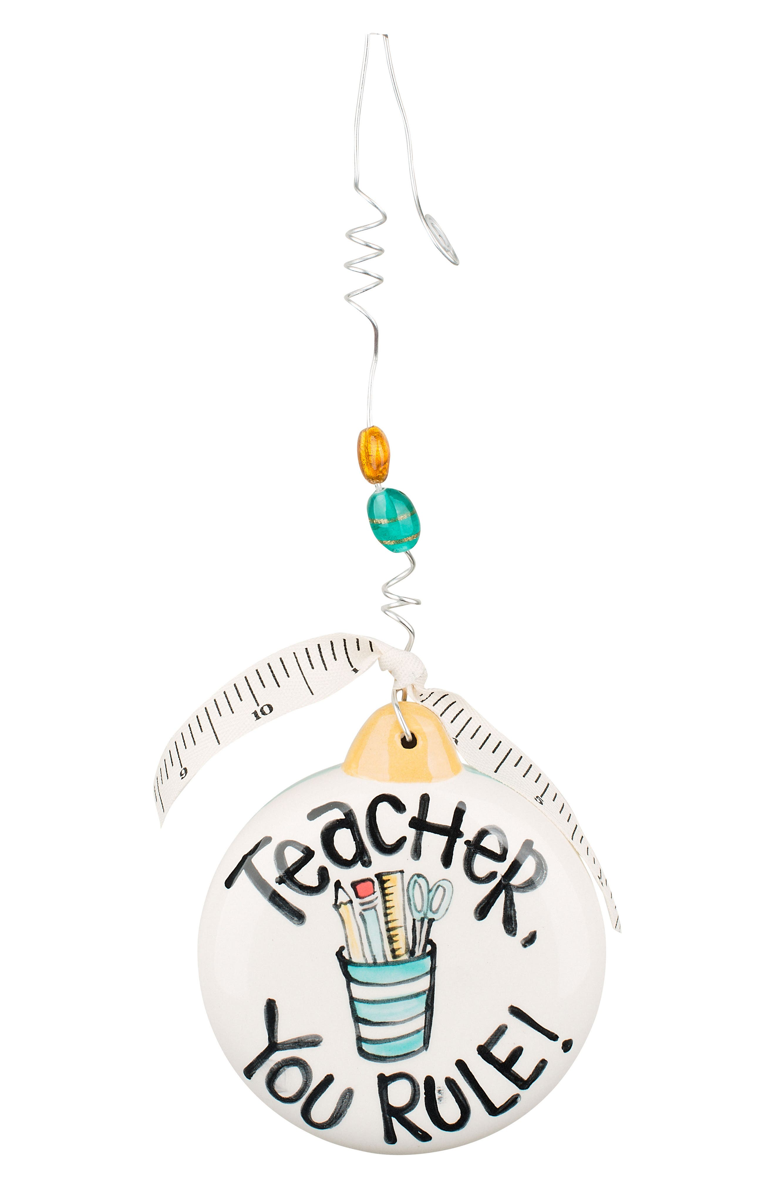 Alternate Image 1 Selected - Glory Haus Teacher You Rule Ceramic Ornament
