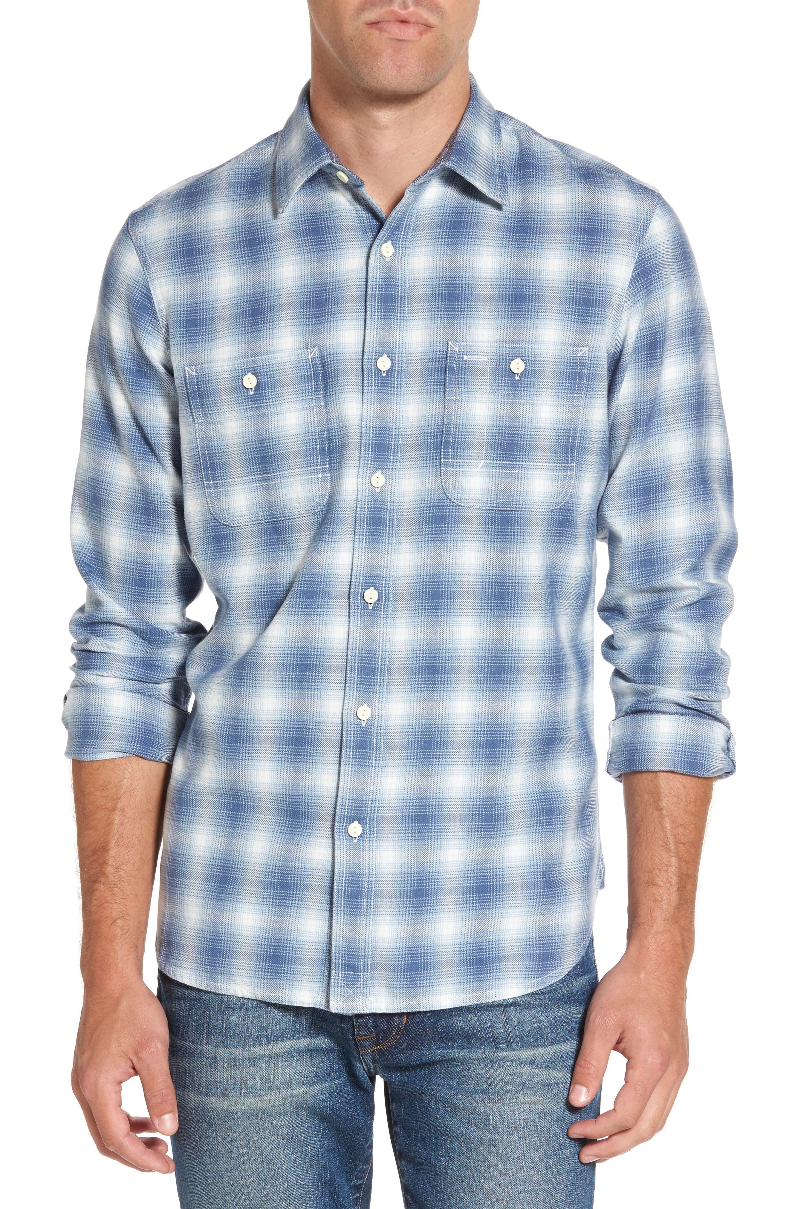 Nordstrom Men's Shop Slim Fit Workwear Plaid Sport Shirt