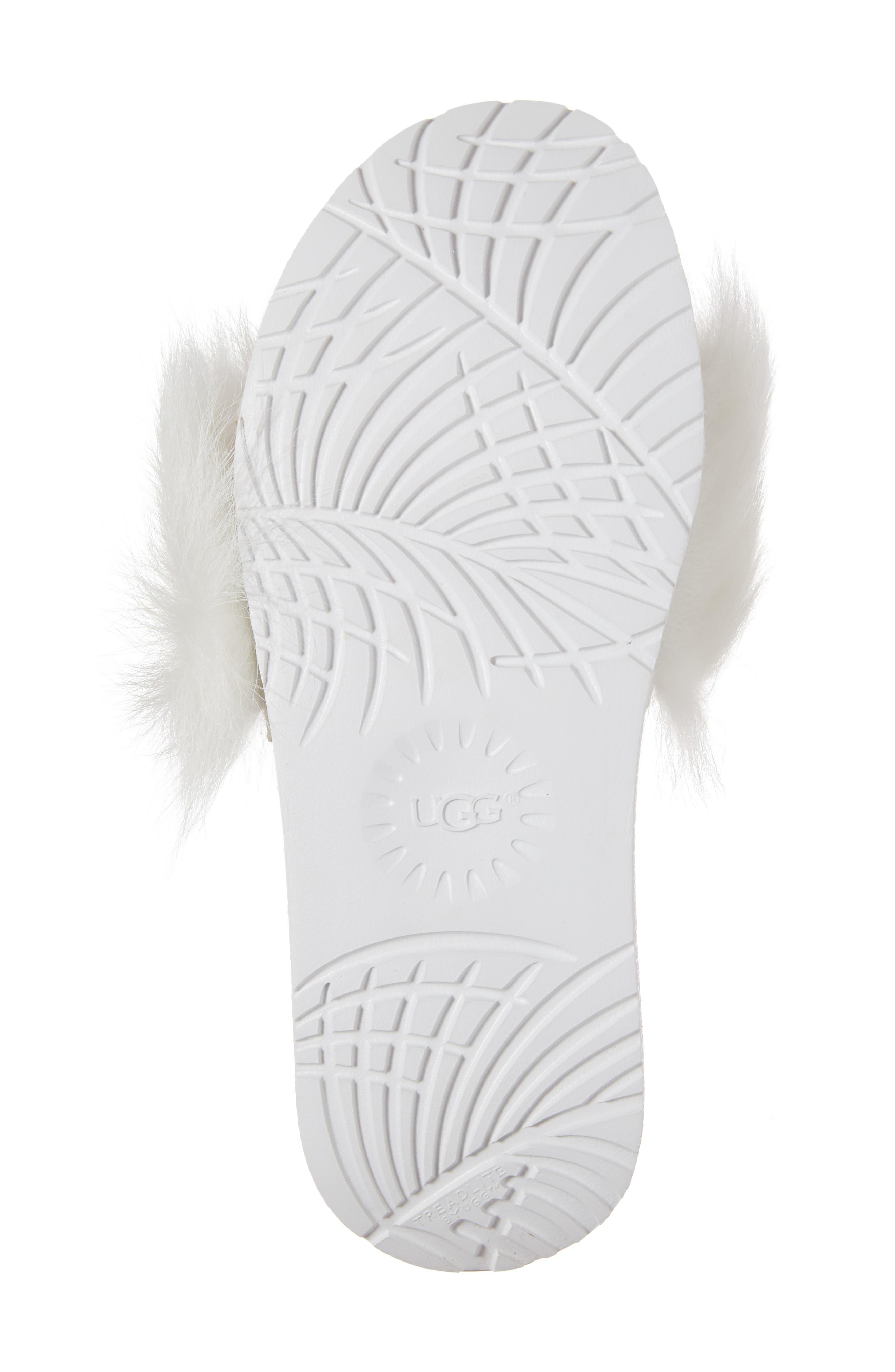 Alternate Image 6  - UGG® Royale Genuine Shearling Slide Sandal (Women)