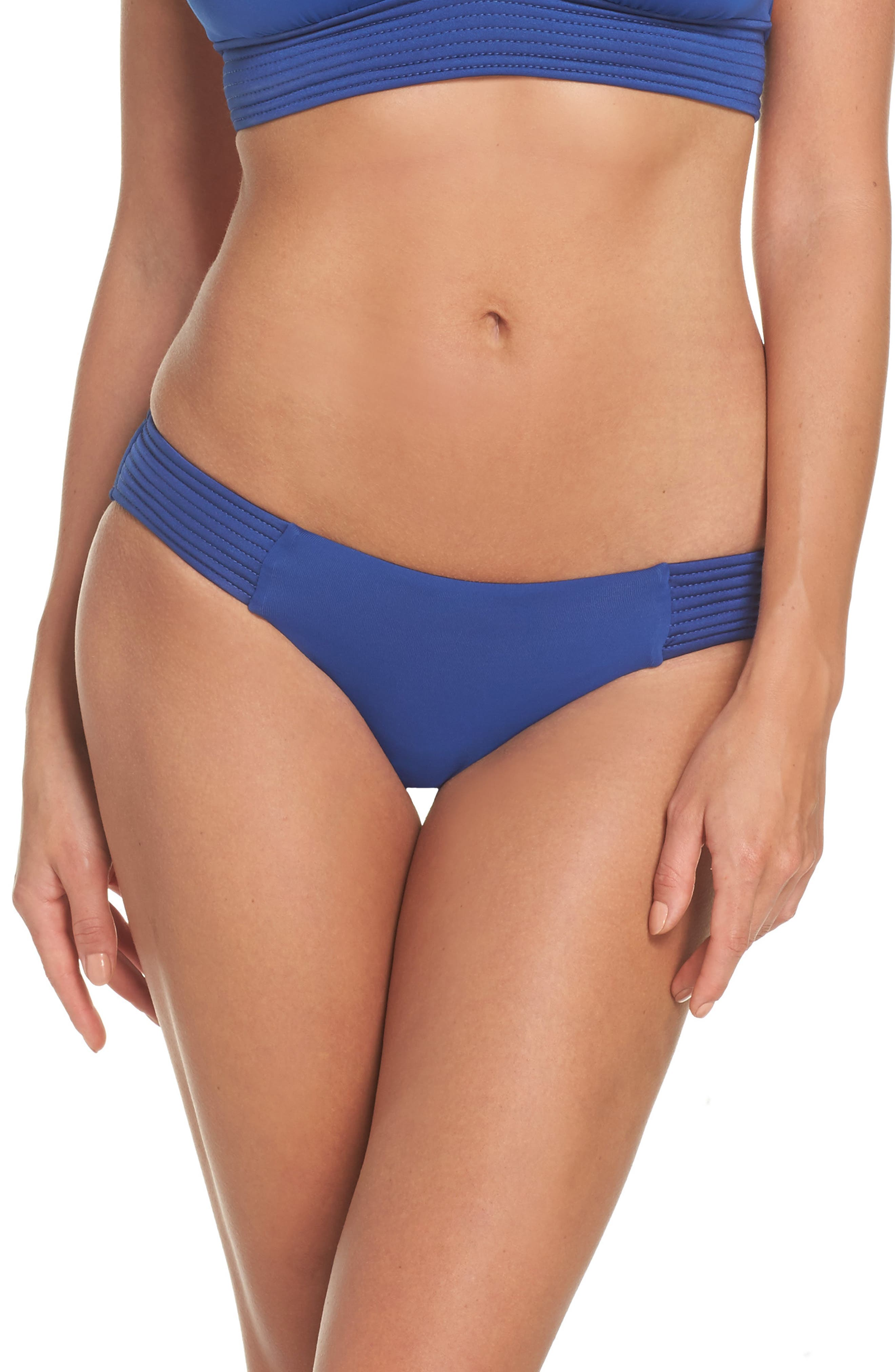 Quilted Bikini Bottoms,                         Main,                         color, French Blue