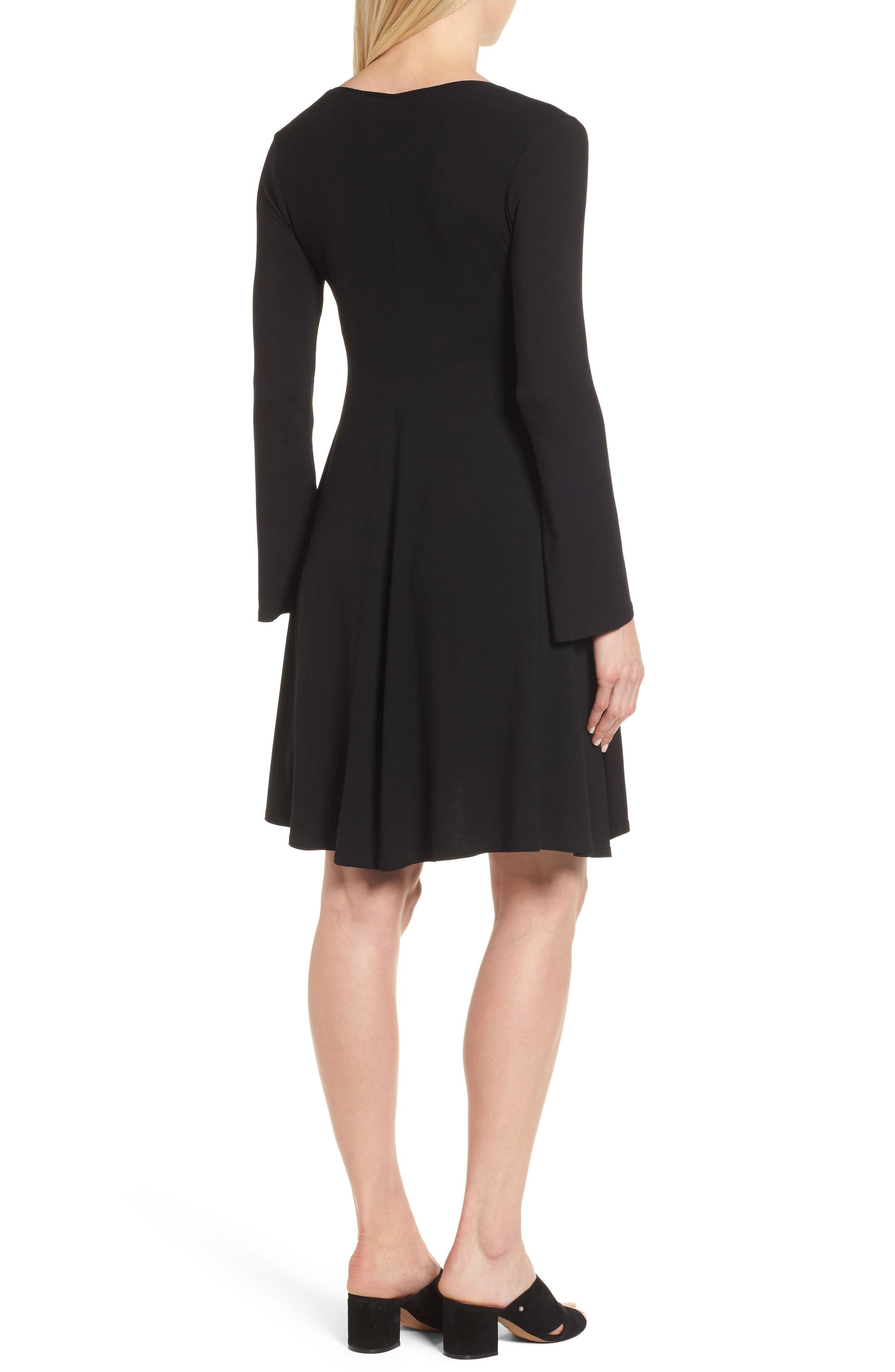 Paola Maternity Trapeze Dress,                             Alternate thumbnail 2, color,                             Caviar Black