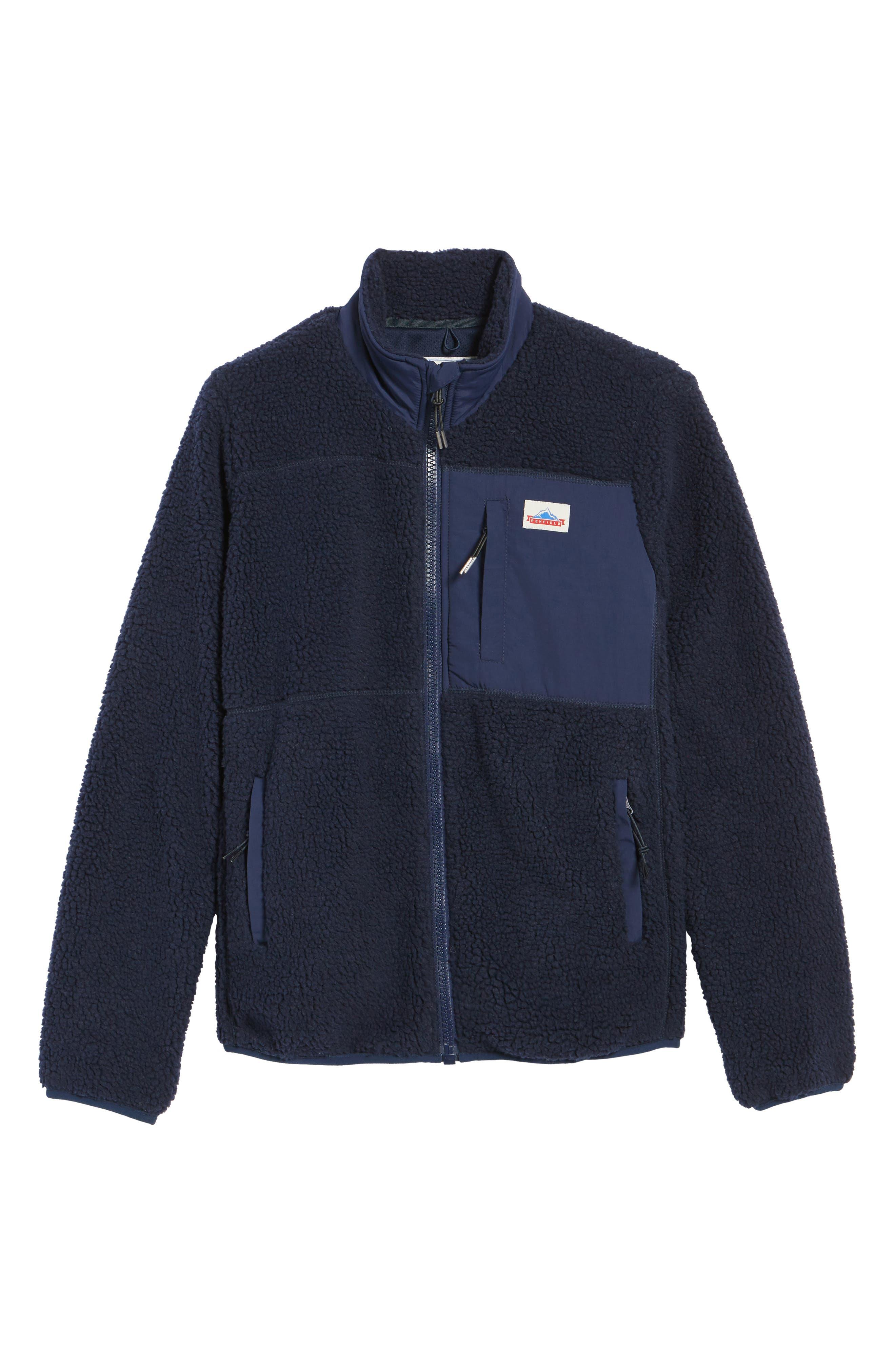 Mattawa Fleece Jacket,                             Alternate thumbnail 6, color,                             Navy