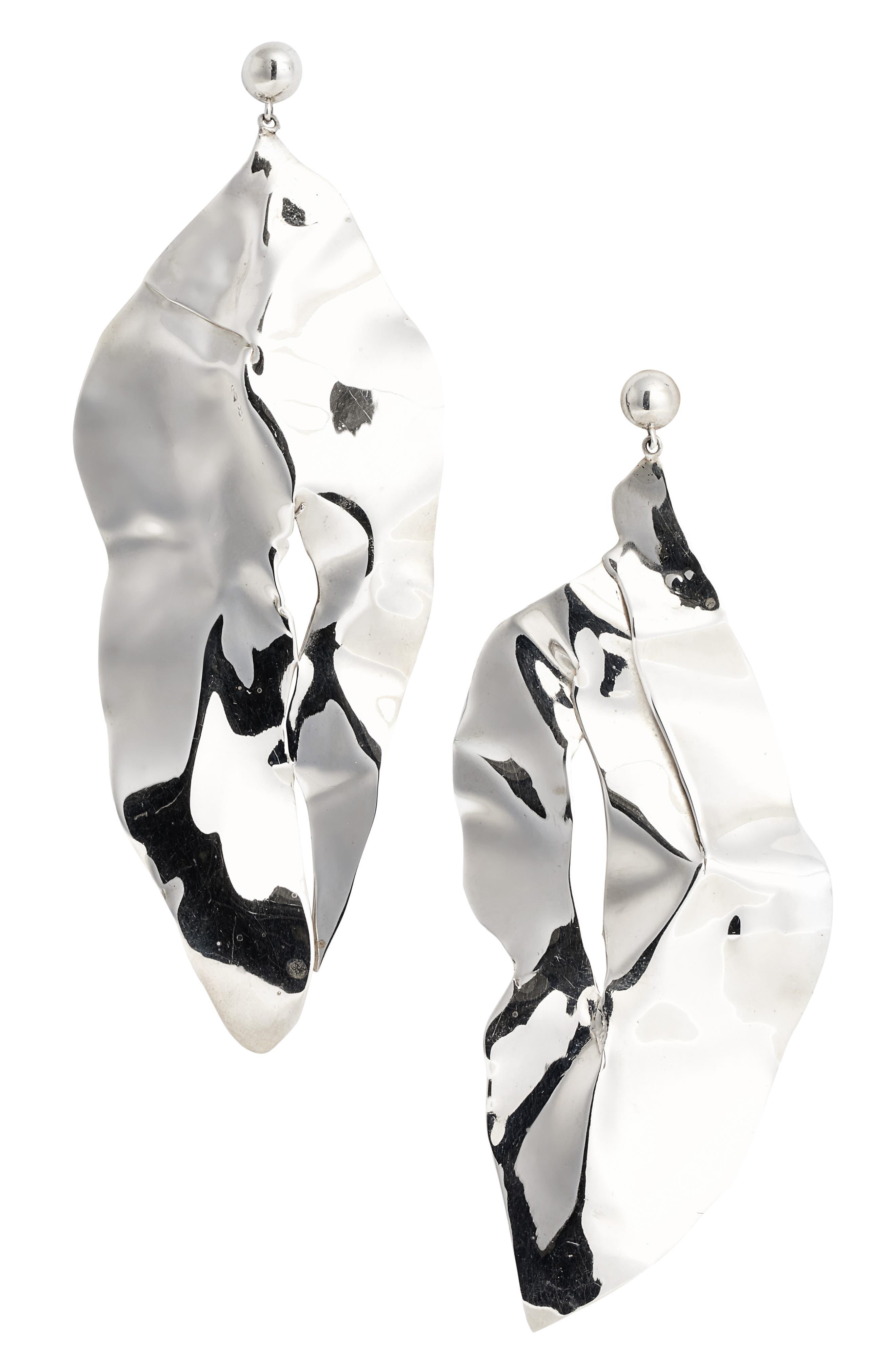 Wilke Drop Earrings,                         Main,                         color, Sterling Silver