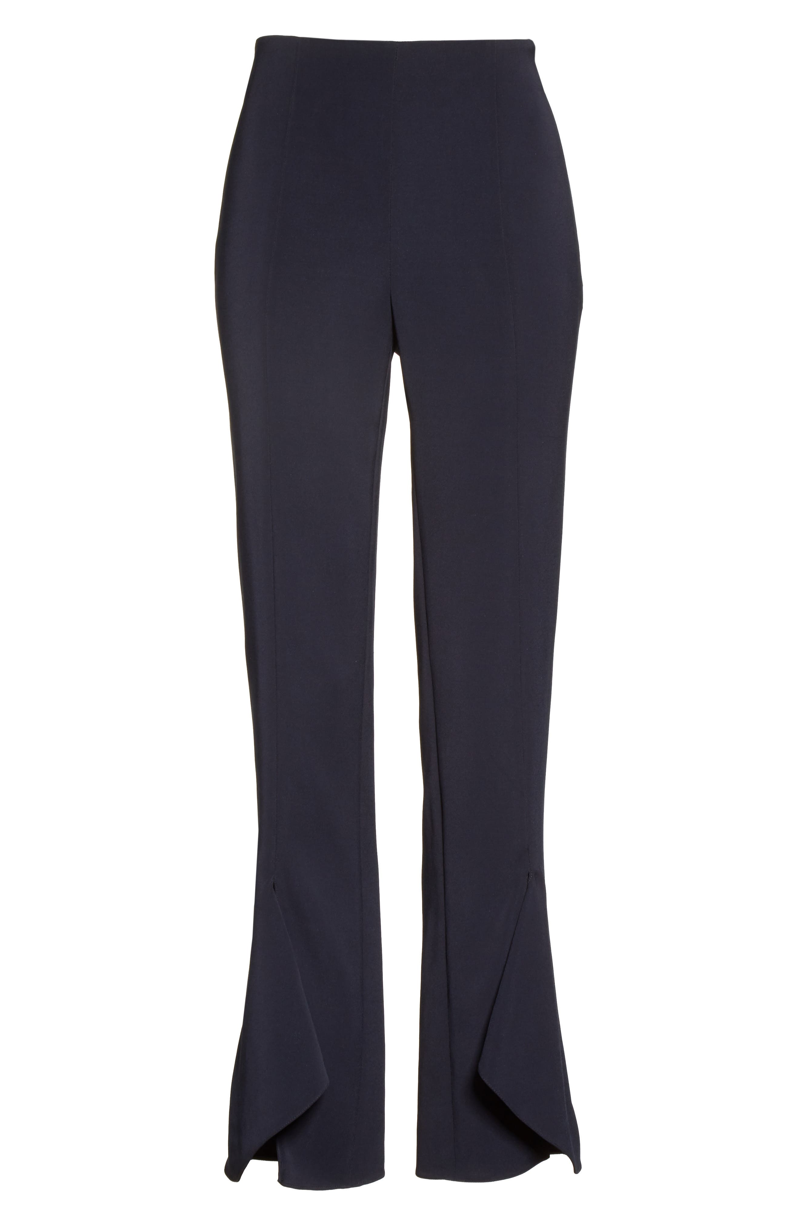 Slit Hem Crop Pants,                             Alternate thumbnail 7, color,                             Midnight