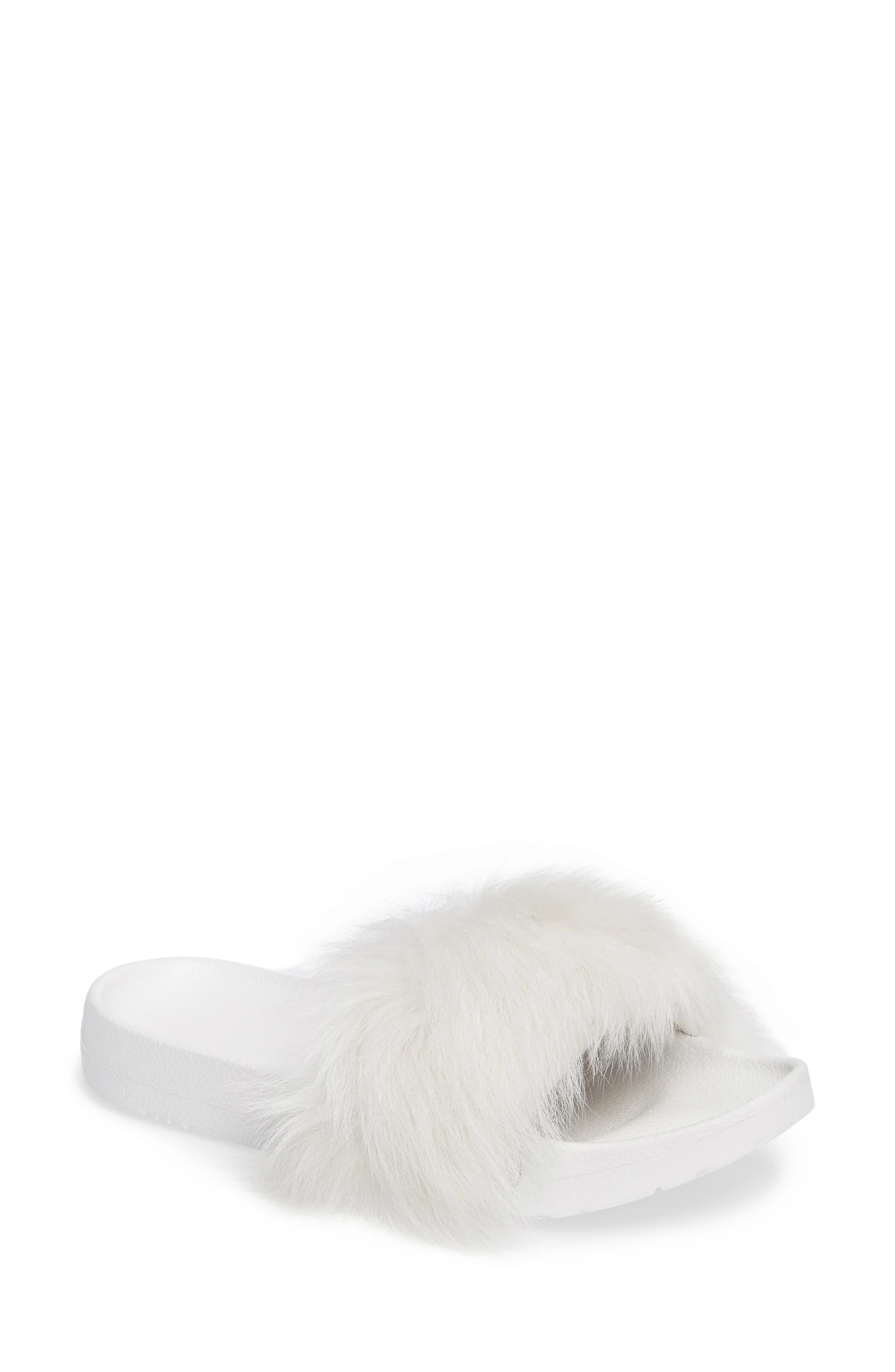 Main Image - UGG® Royale Genuine Shearling Slide Sandal (Women)