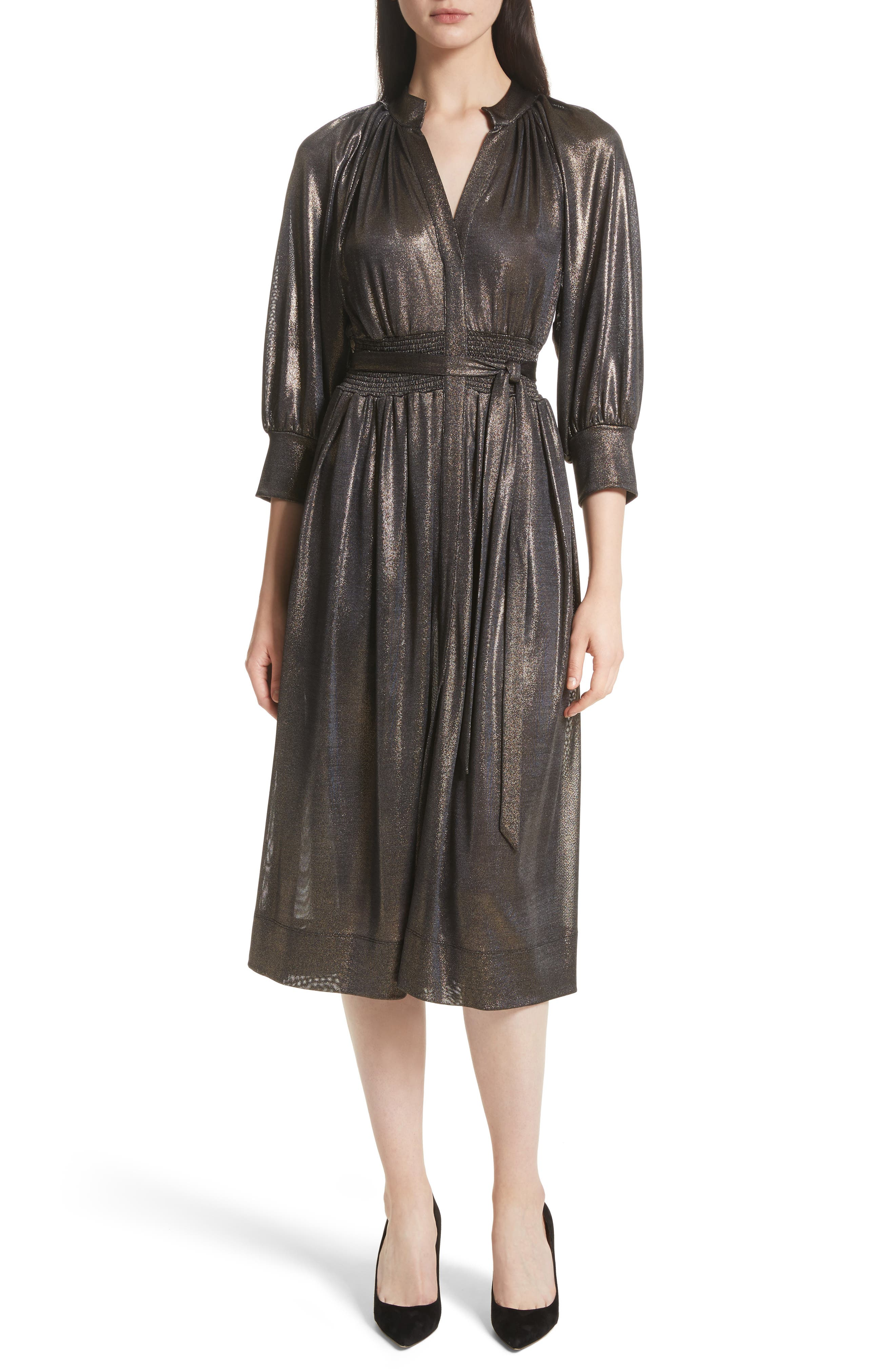 Tracy Reese Peasant Midi Dress
