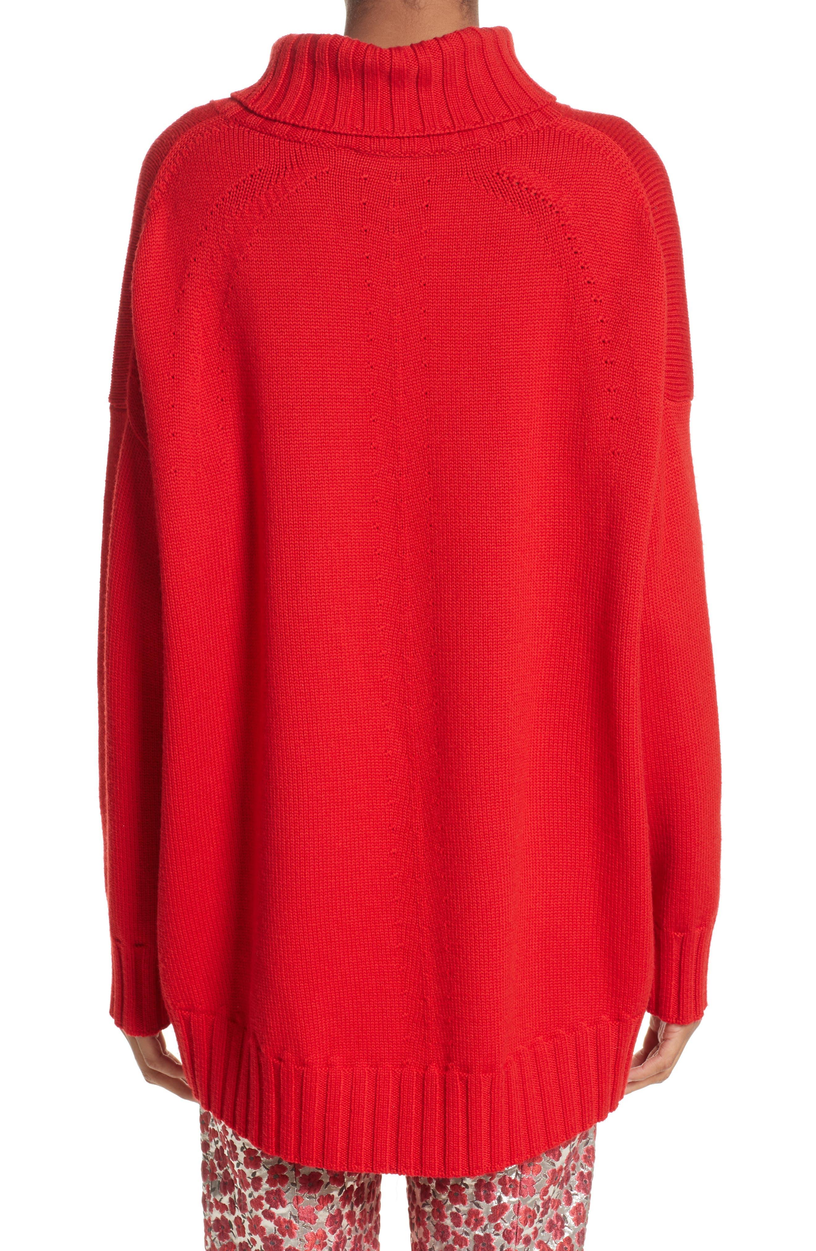Alternate Image 2  - Oscar de la Renta Virgin Wool Turtleneck Sweater