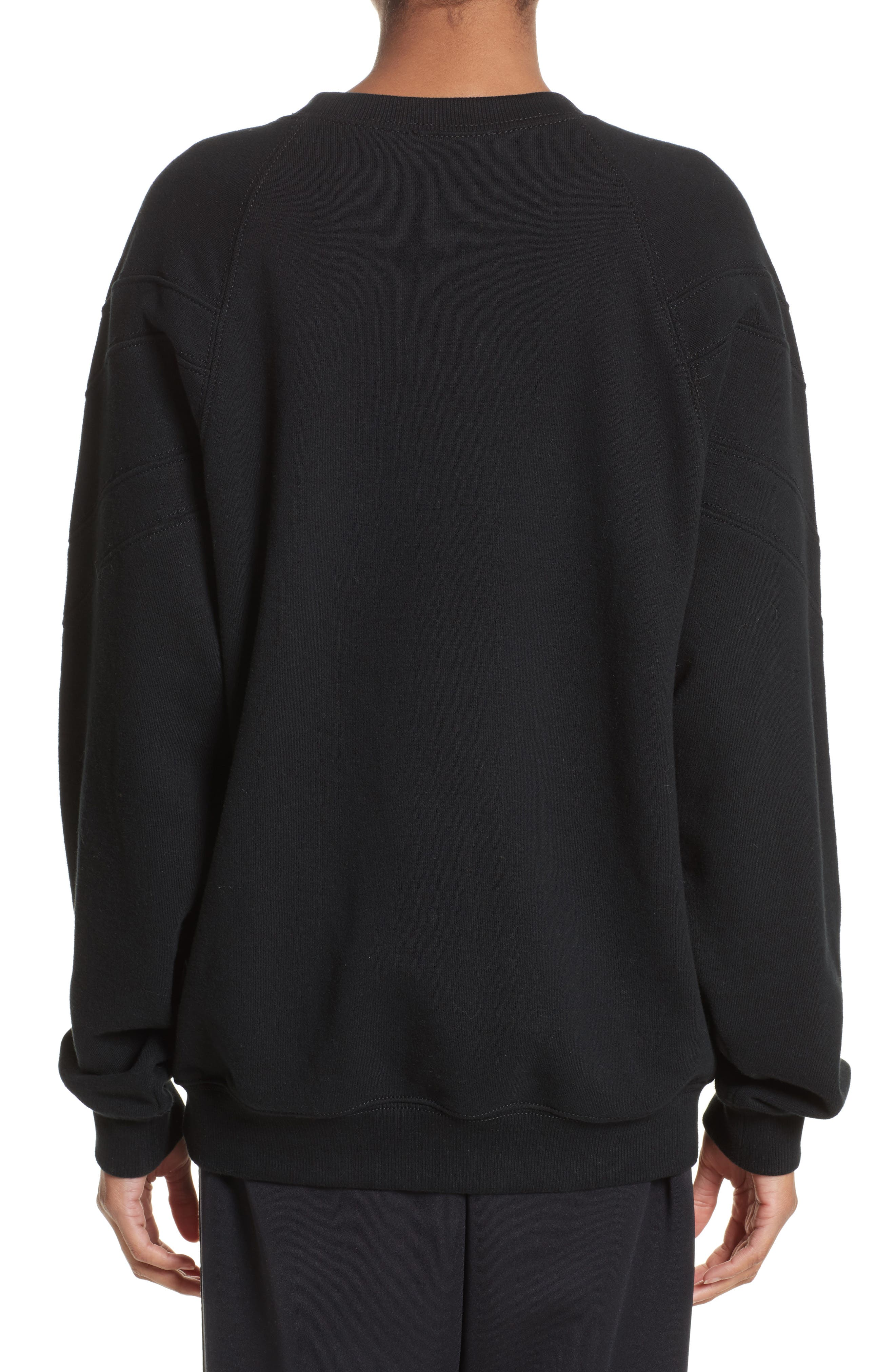 Embroidered Logo Sweatshirt,                             Alternate thumbnail 2, color,                             Black