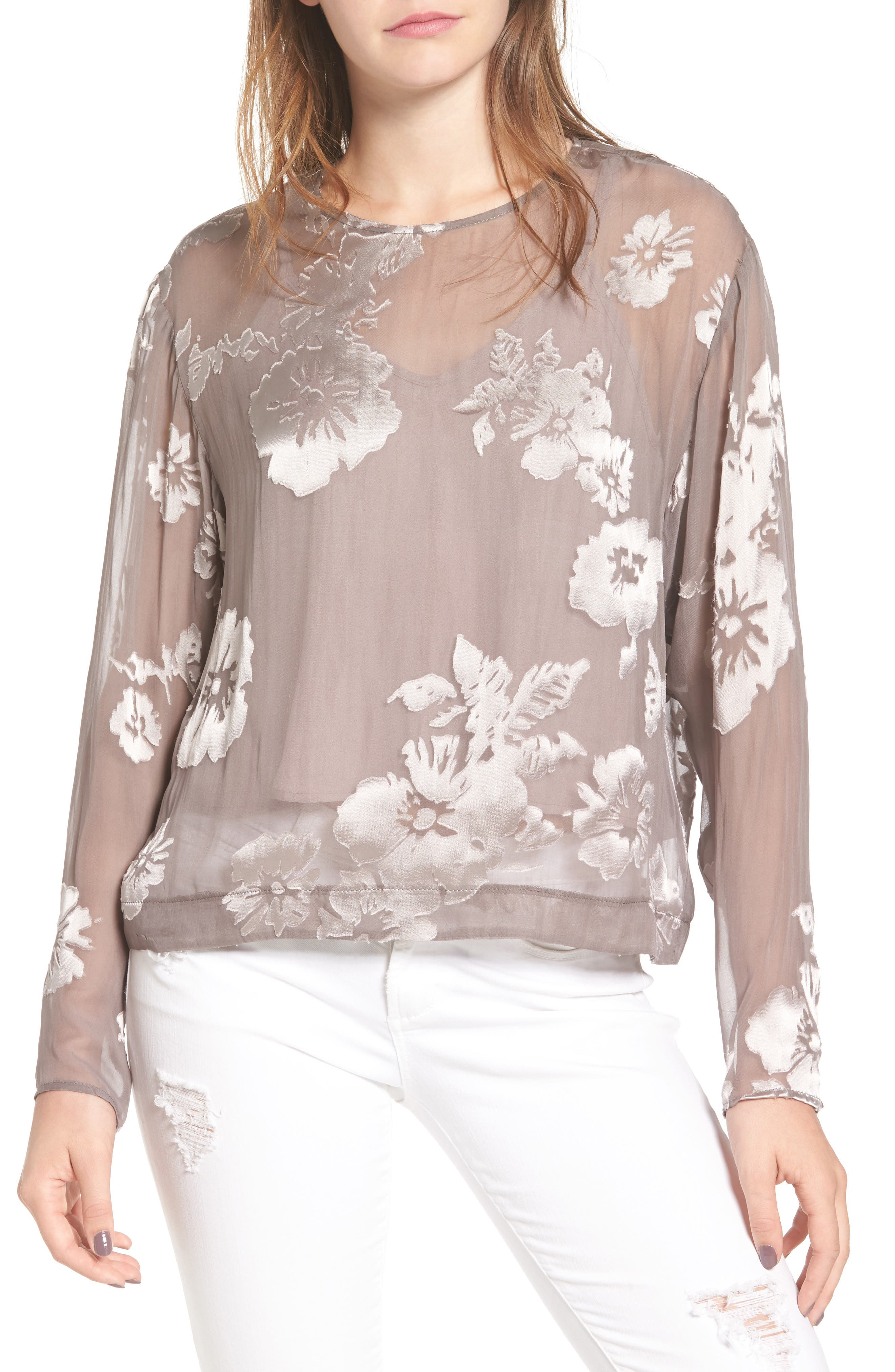 Main Image - ASTR the Label Tara Floral Print Top
