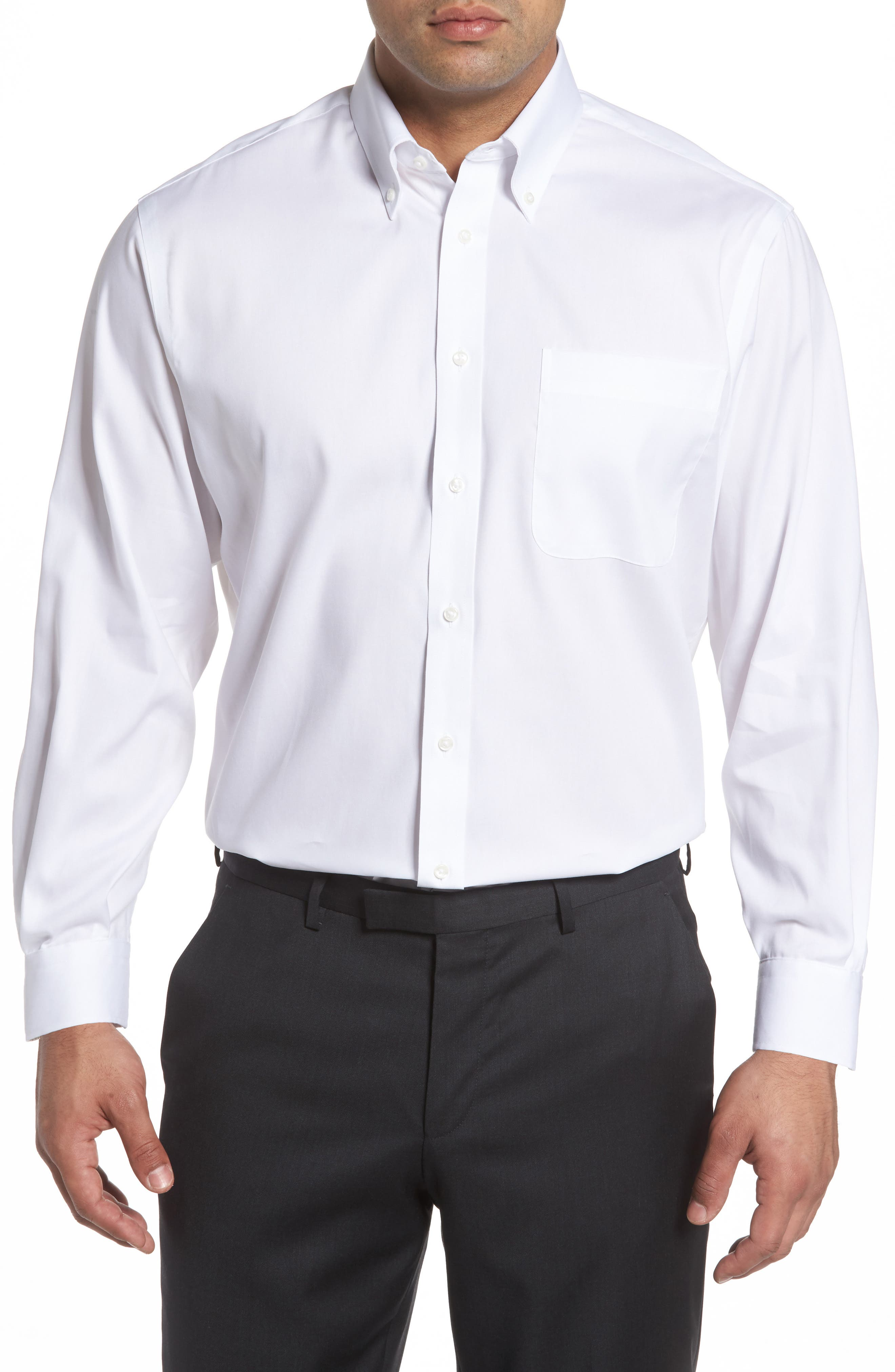Alternate Image 1 Selected - Nordstrom Men's Shop Classic Fit Non-Iron Solid Dress Shirt