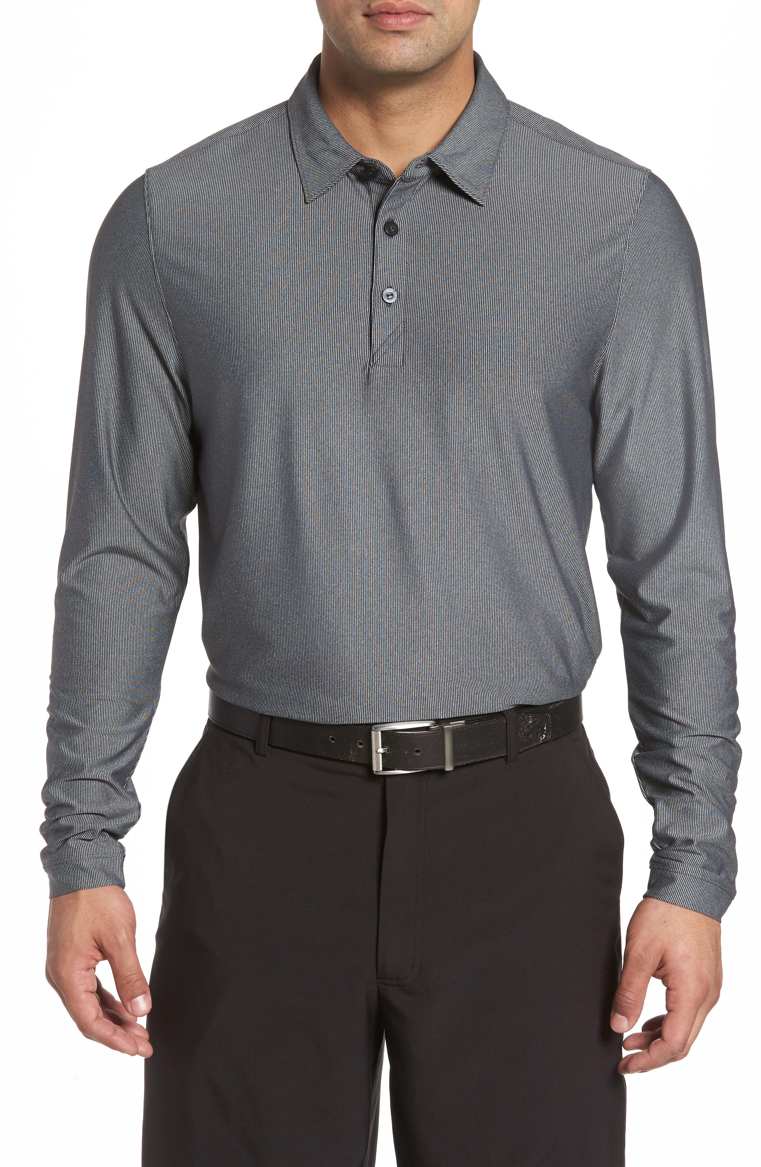 Cunningham Stripe Jersey Polo,                         Main,                         color, Black