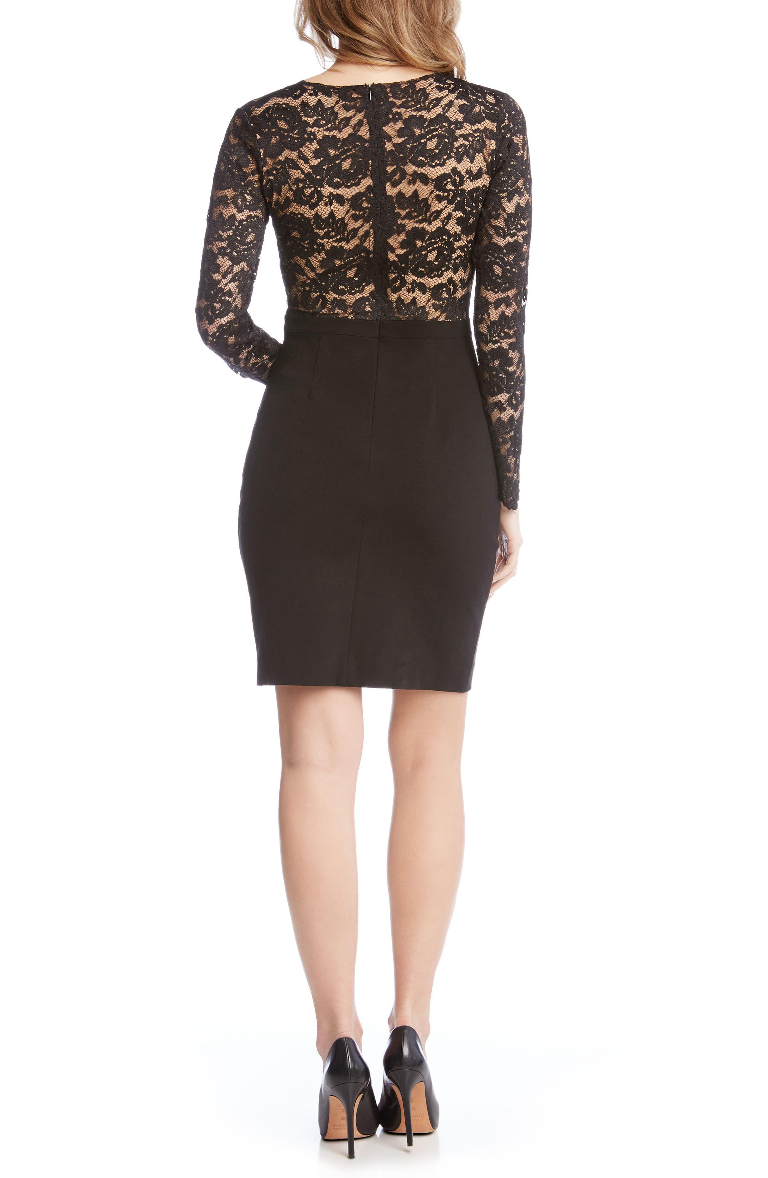 Alternate Image 3  - Karen Kane Becca Lace & Knit Sheath Dress
