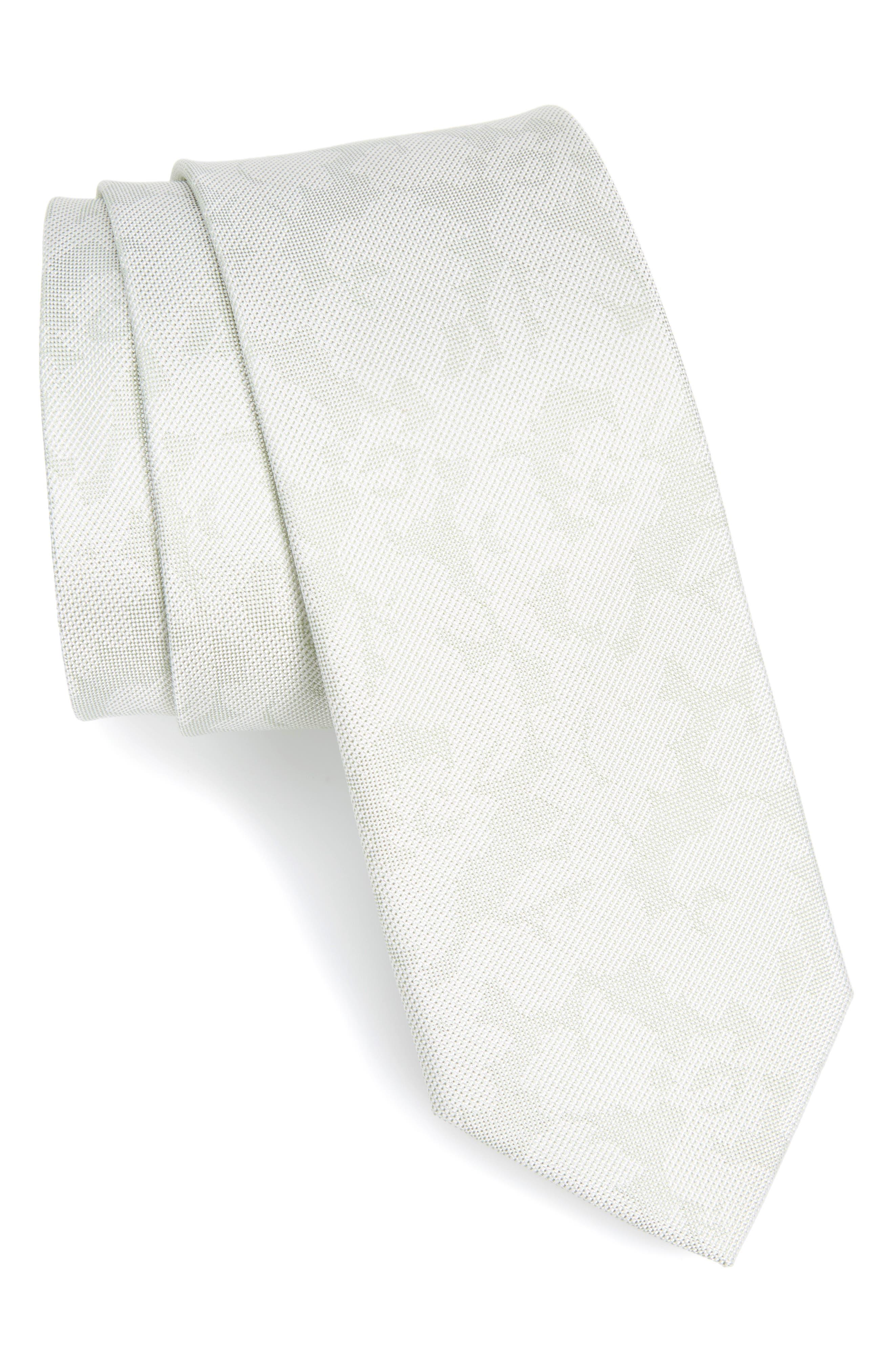 Floral Silk Tie,                             Main thumbnail 1, color,                             Spearmint