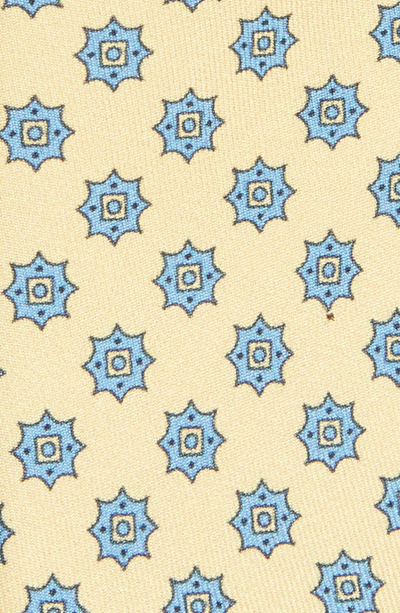 Major Star Silk Tie,                             Alternate thumbnail 2, color,                             Butter