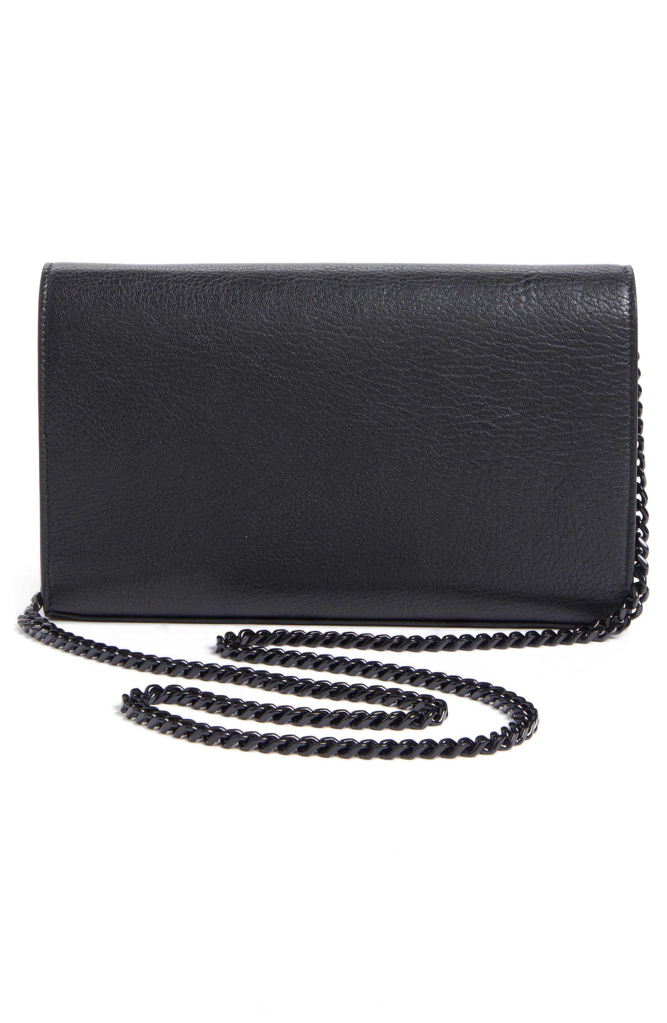 Alternate Image 3  - Saint Laurent Monogramme Patchwork Lips Leather Shoulder Bag