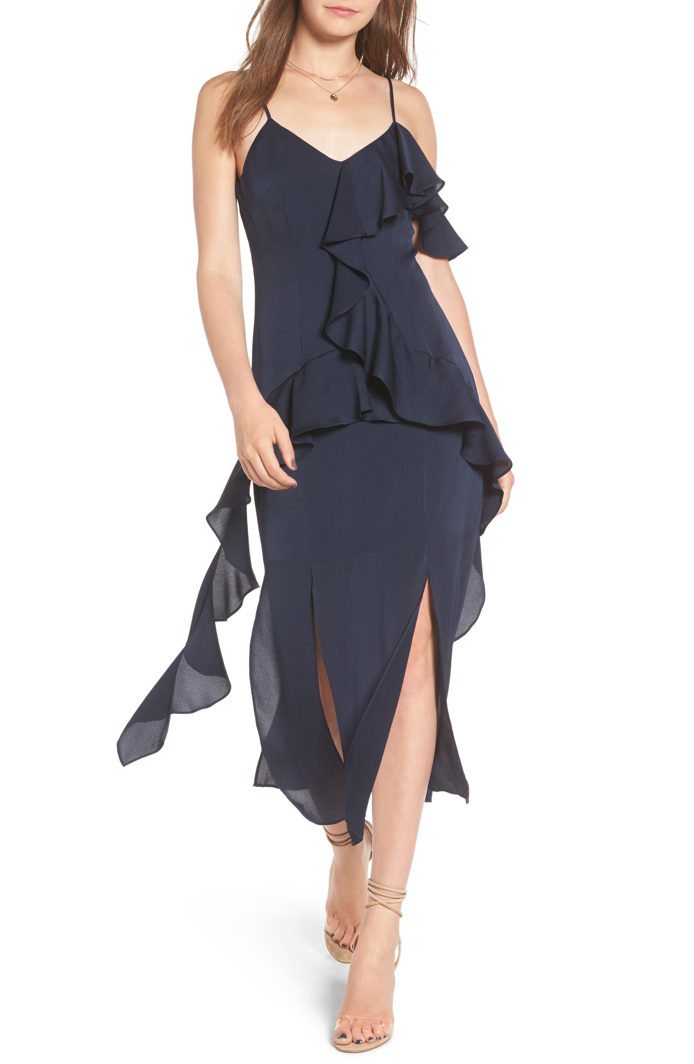 Love Bound Midi Dress,                         Main,                         color, Navy