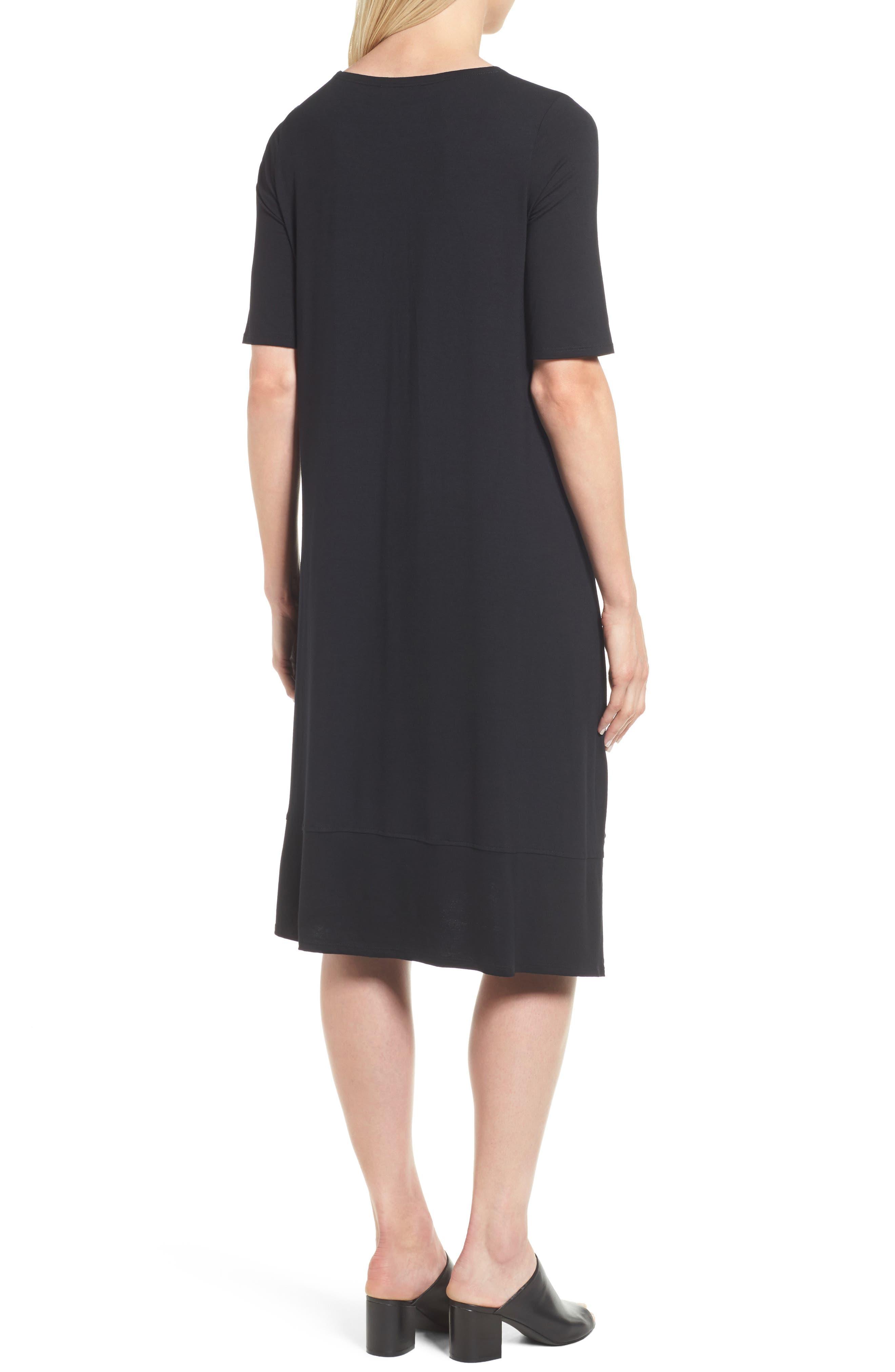 Alternate Image 2  - Eileen Fisher Jersey Asymmetrical A-Line Dress