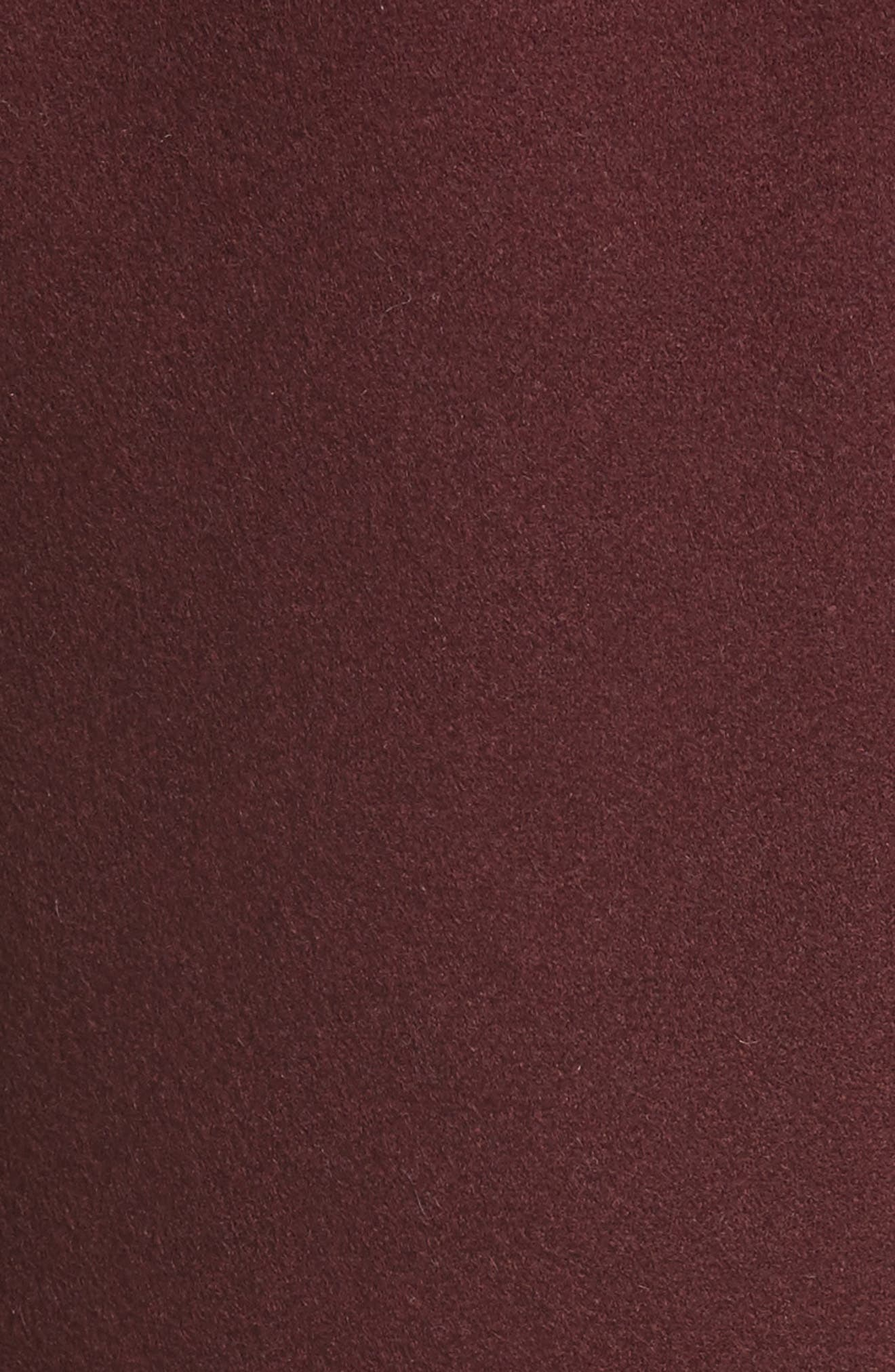 Bonded Felt Coat,                             Alternate thumbnail 5, color,                             Wine-Raspberry