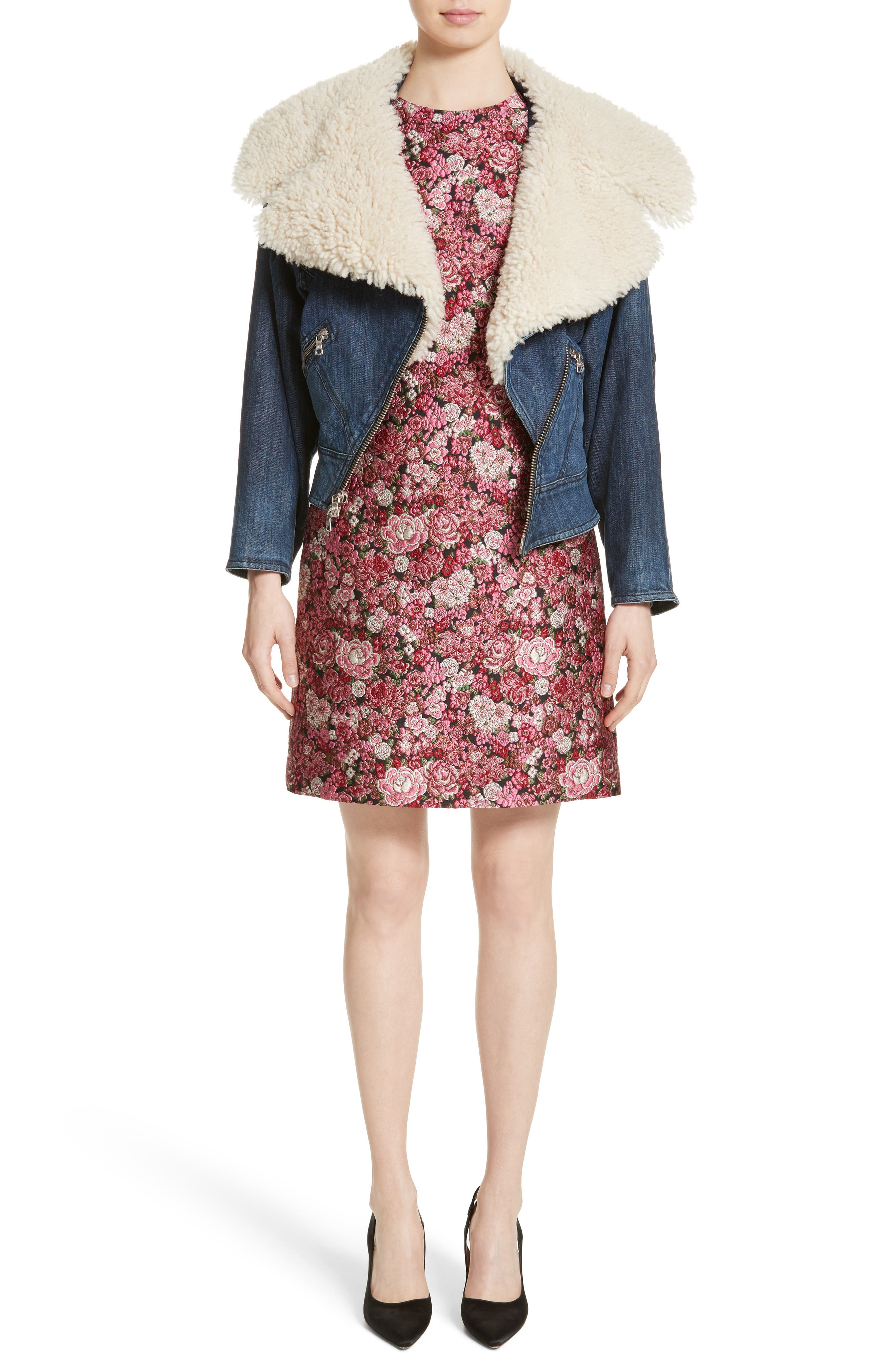 Alternate Image 7  - Adam Lippes Floral Brocade Dress
