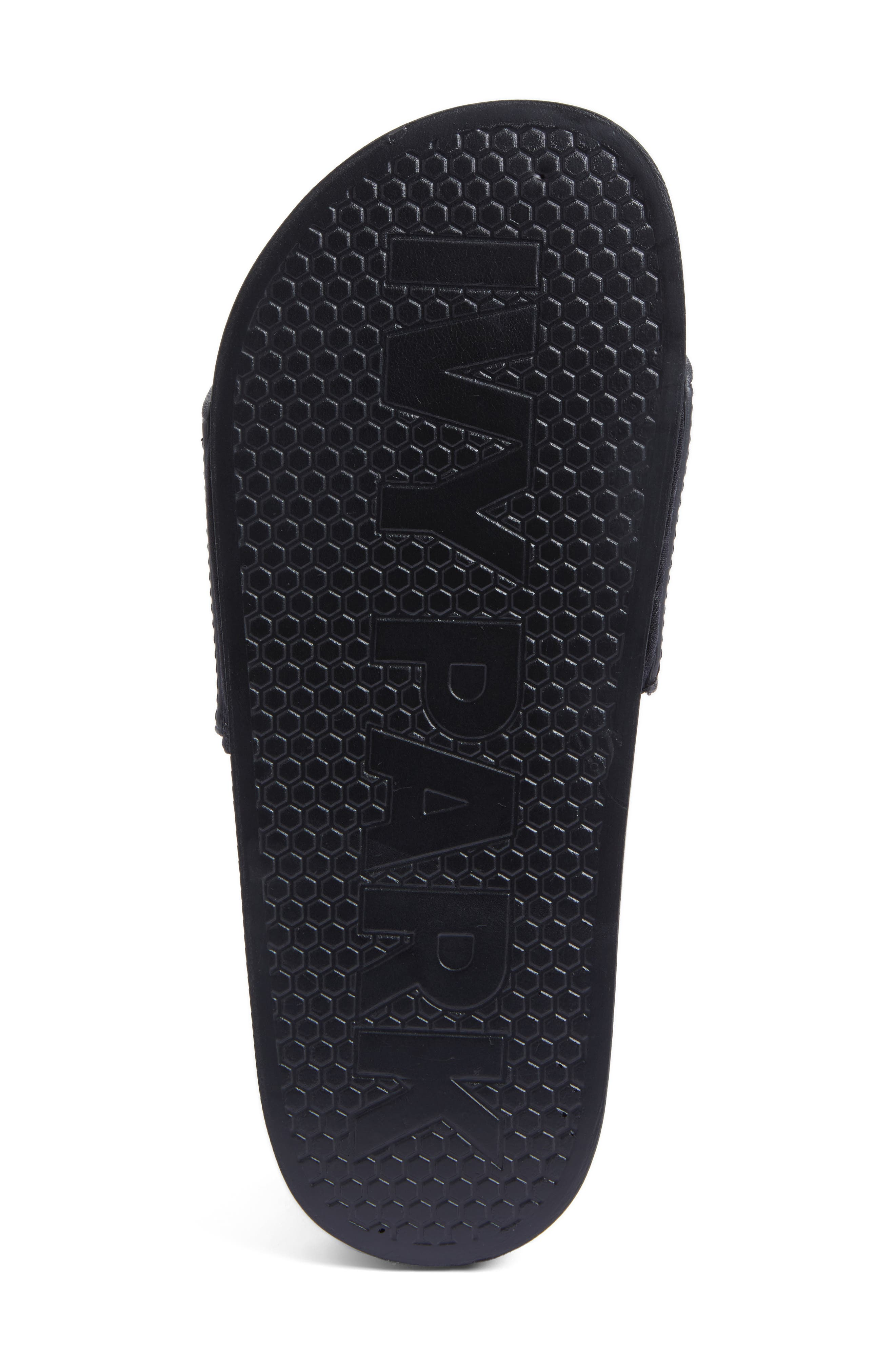 Neoprene Lined Logo Slide Sandal,                             Alternate thumbnail 6, color,                             Black