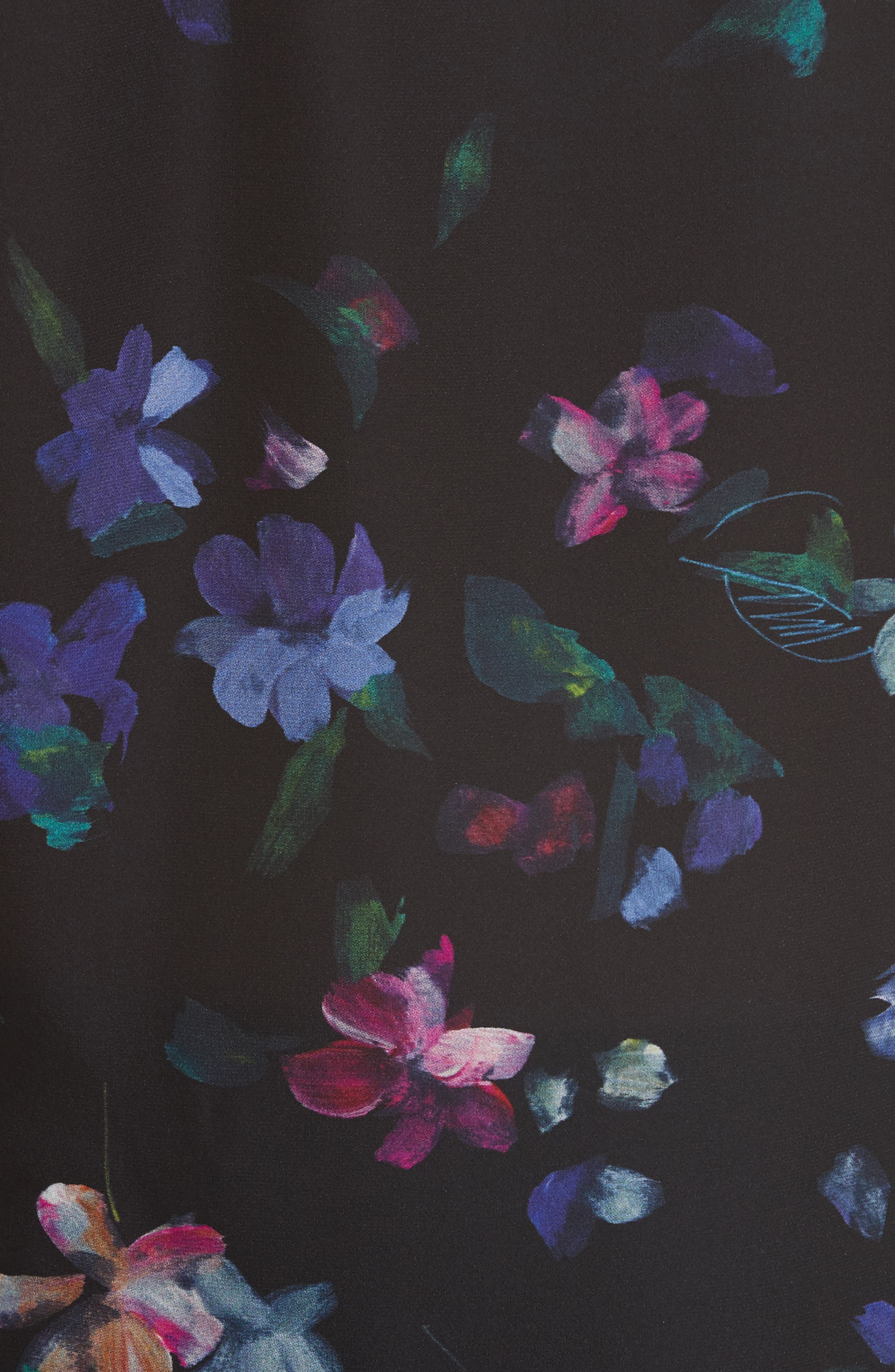 Alternate Image 5  - Milly Emily Painted Floral Silk Top