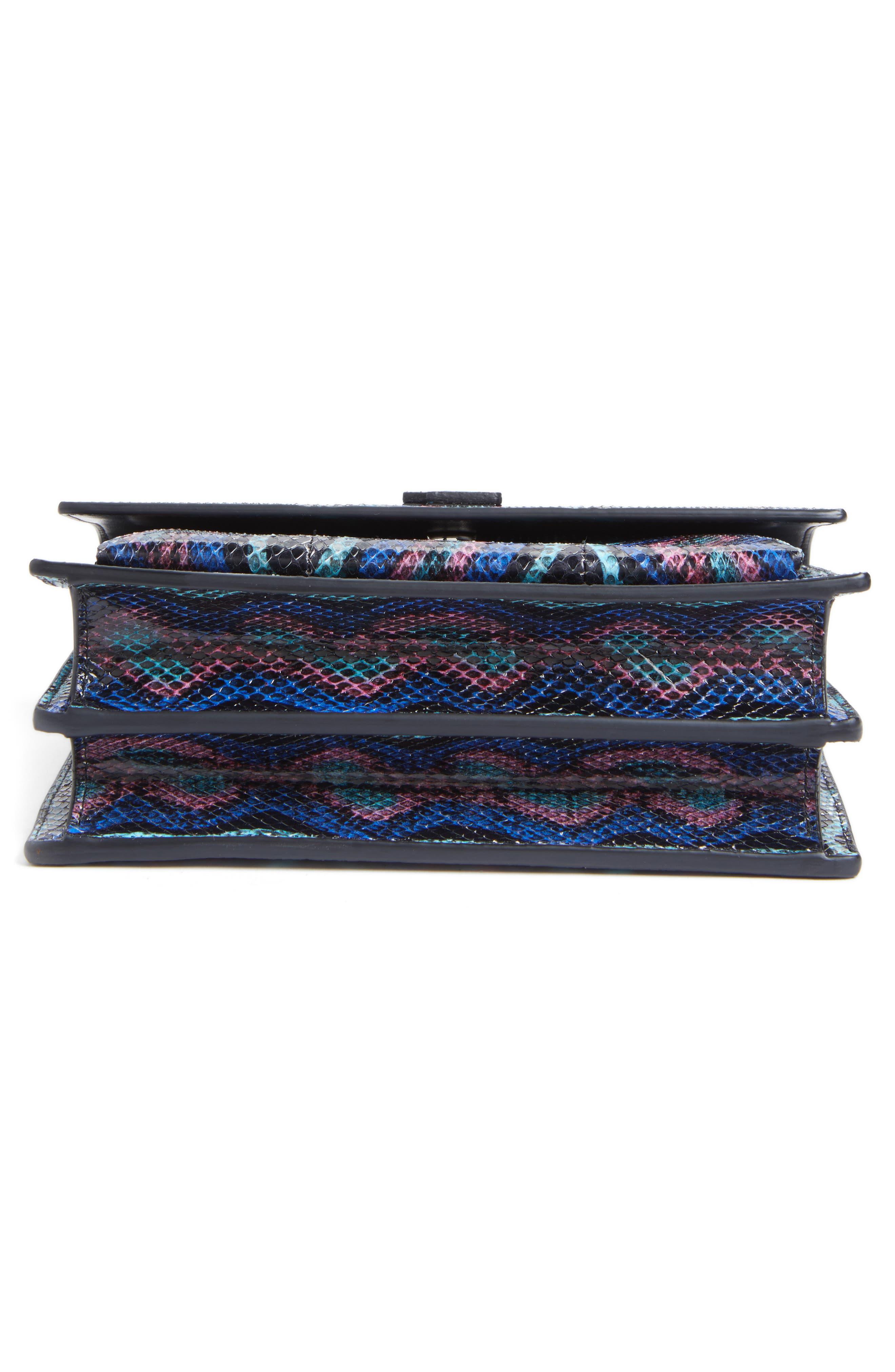Medium Monogram Sunset Genuine Snakeskin Crossbody Bag,                             Alternate thumbnail 6, color,                             Black Multi
