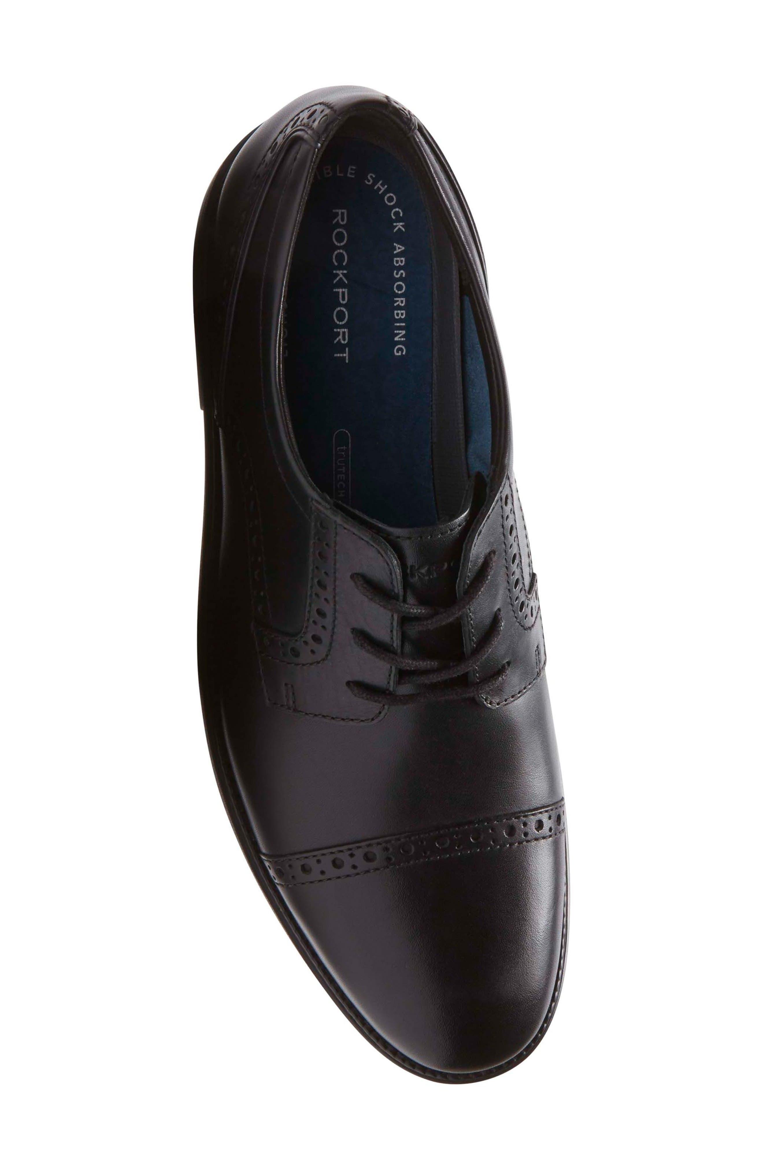 Madson Cap Toe Derby,                             Alternate thumbnail 5, color,                             Black Leather