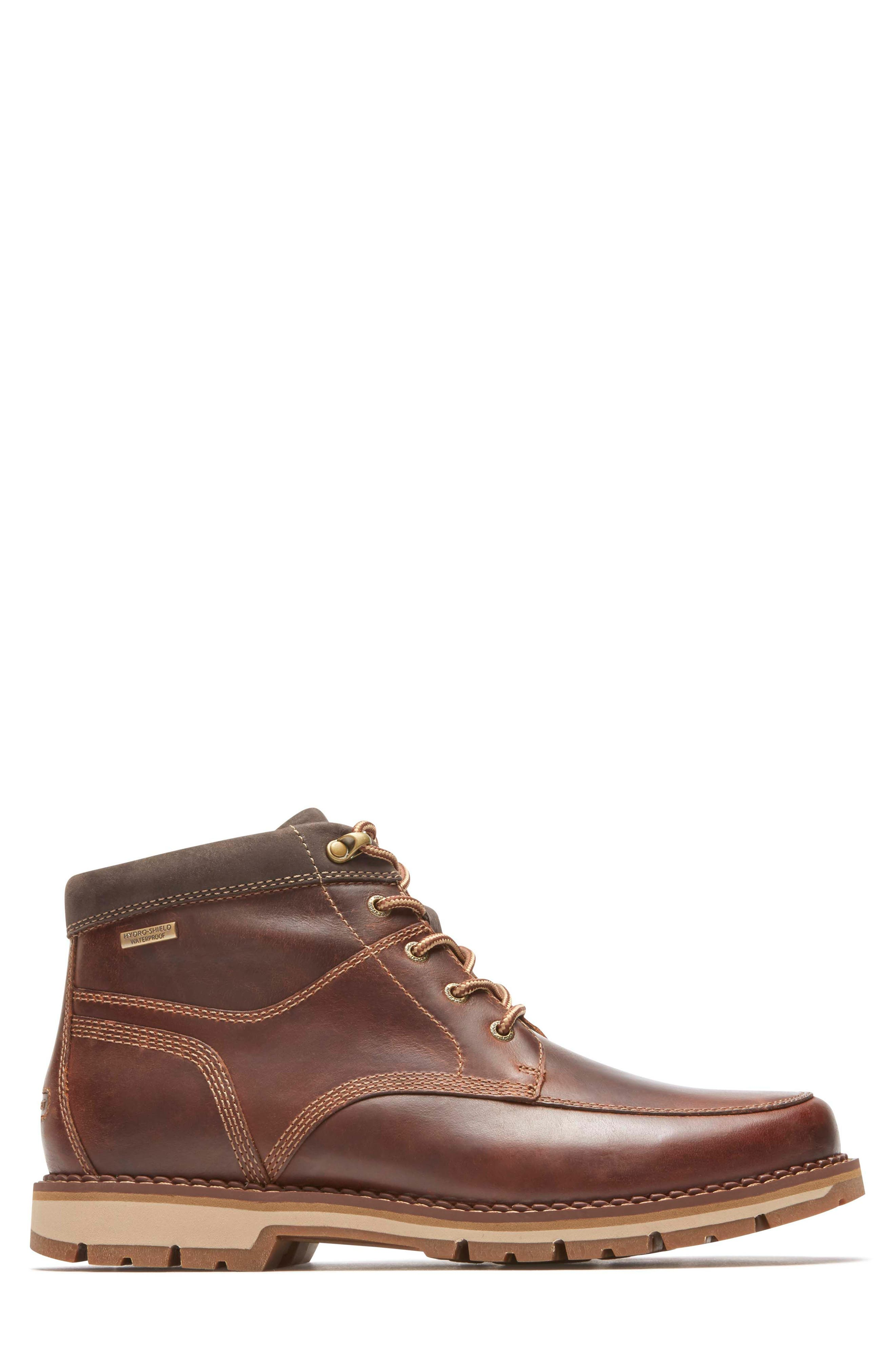 Centry Moc Toe Boot,                             Alternate thumbnail 3, color,                             Brown Leather