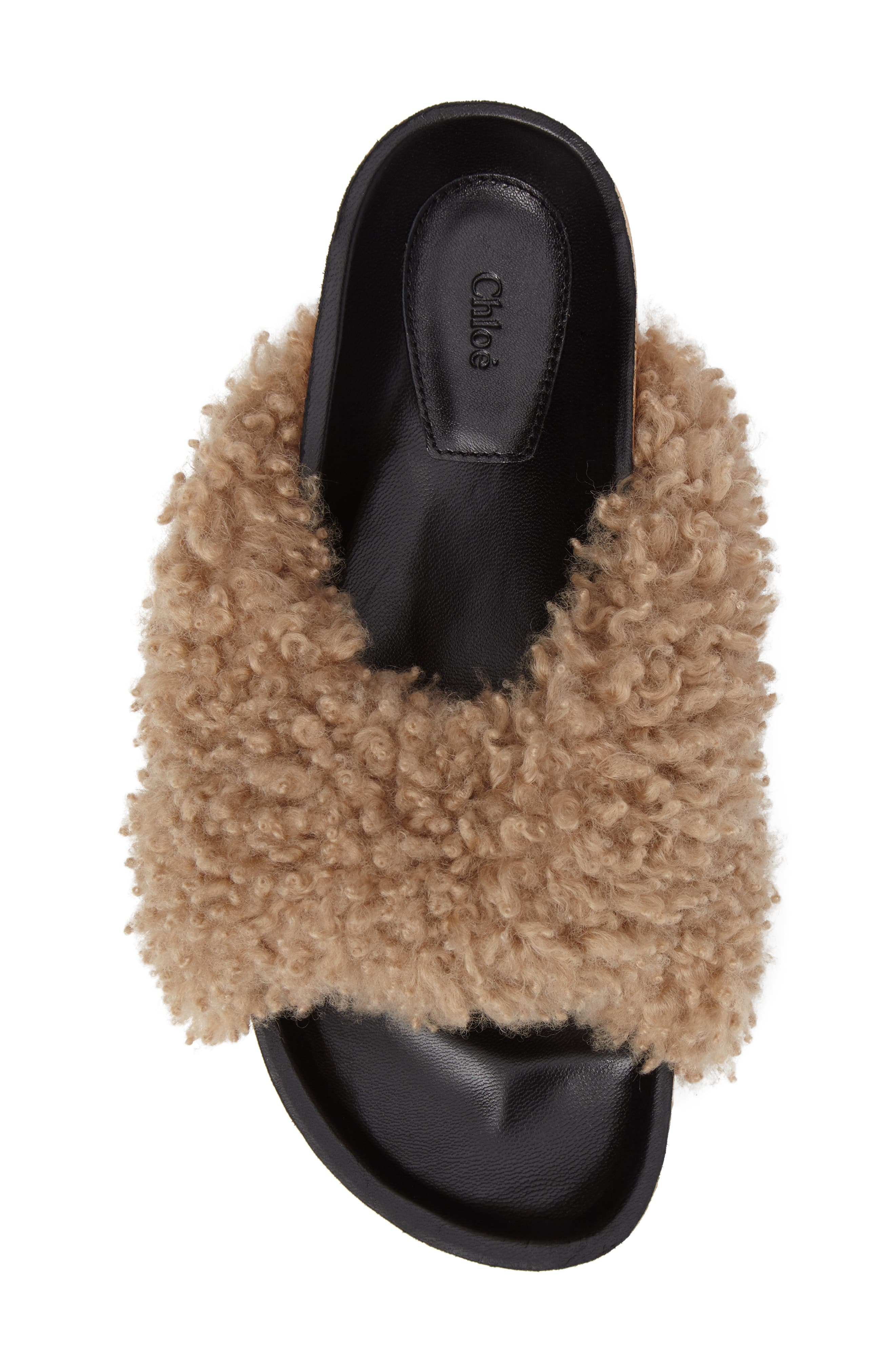 Alternate Image 4  - Chloé Kerenn Genuine Shearling Sandal (Women)