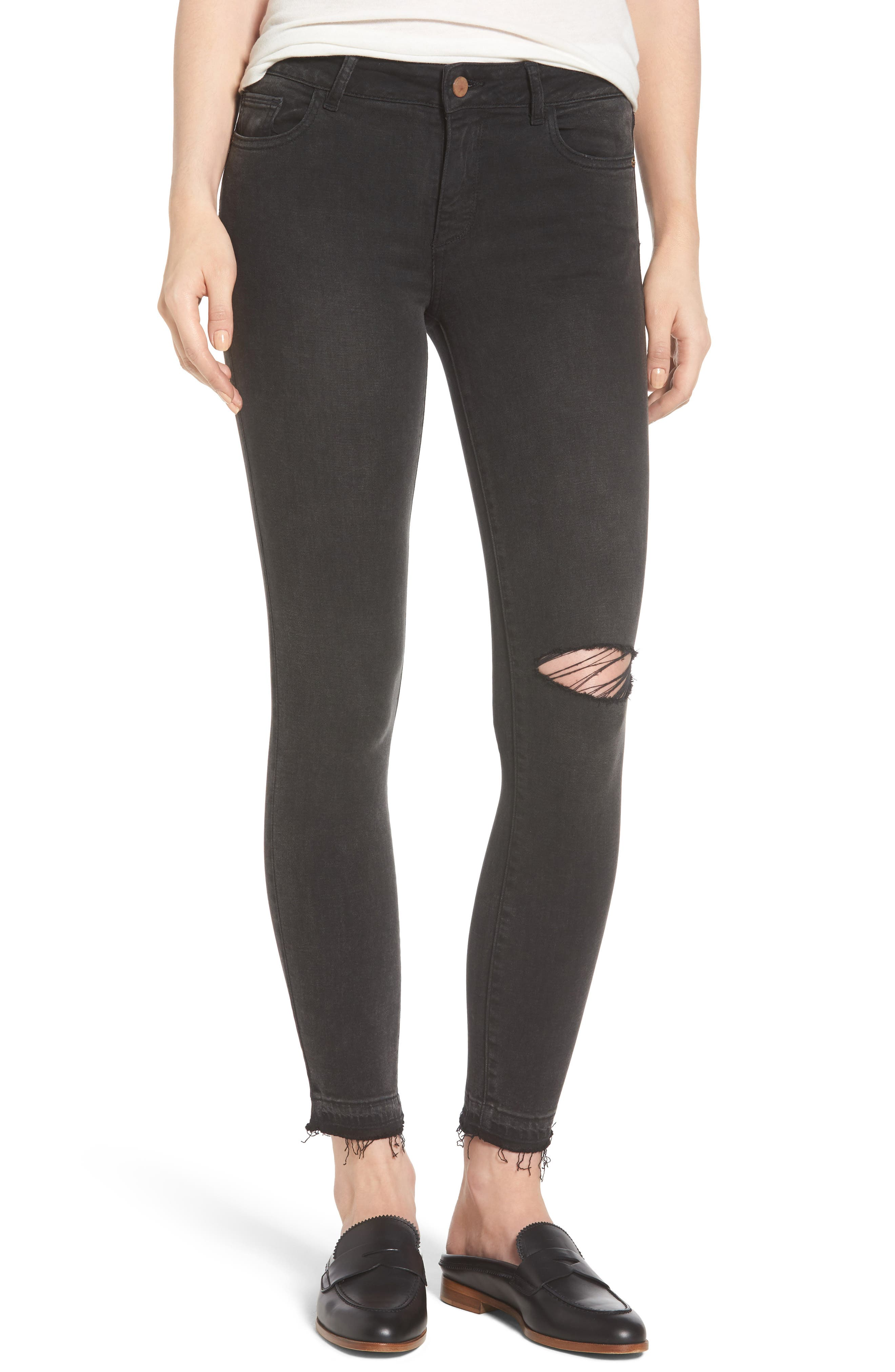 Margaux Instasculpt Ankle Skinny Jeans,                         Main,                         color, Smokey River