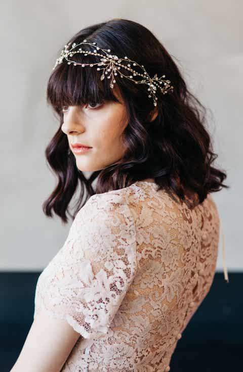 Wedding bridal hair accessories headbands nordstrom j picone morisette crystal imitation pearl headband junglespirit Image collections