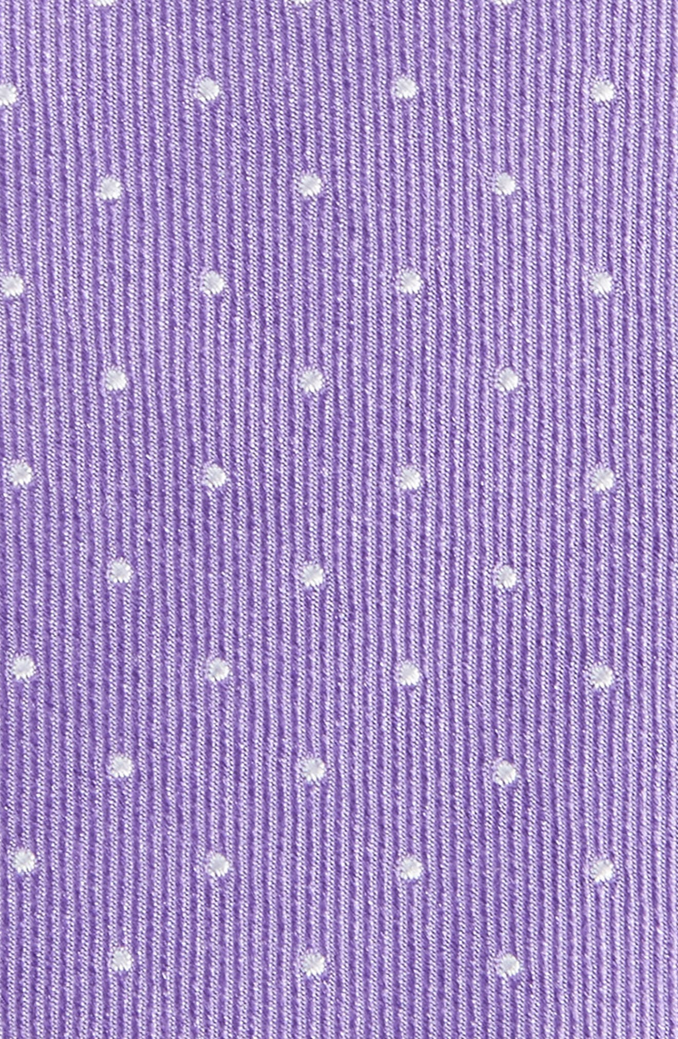 Hartwell Dot Silk Skinny Tie,                             Alternate thumbnail 2, color,                             Lilac