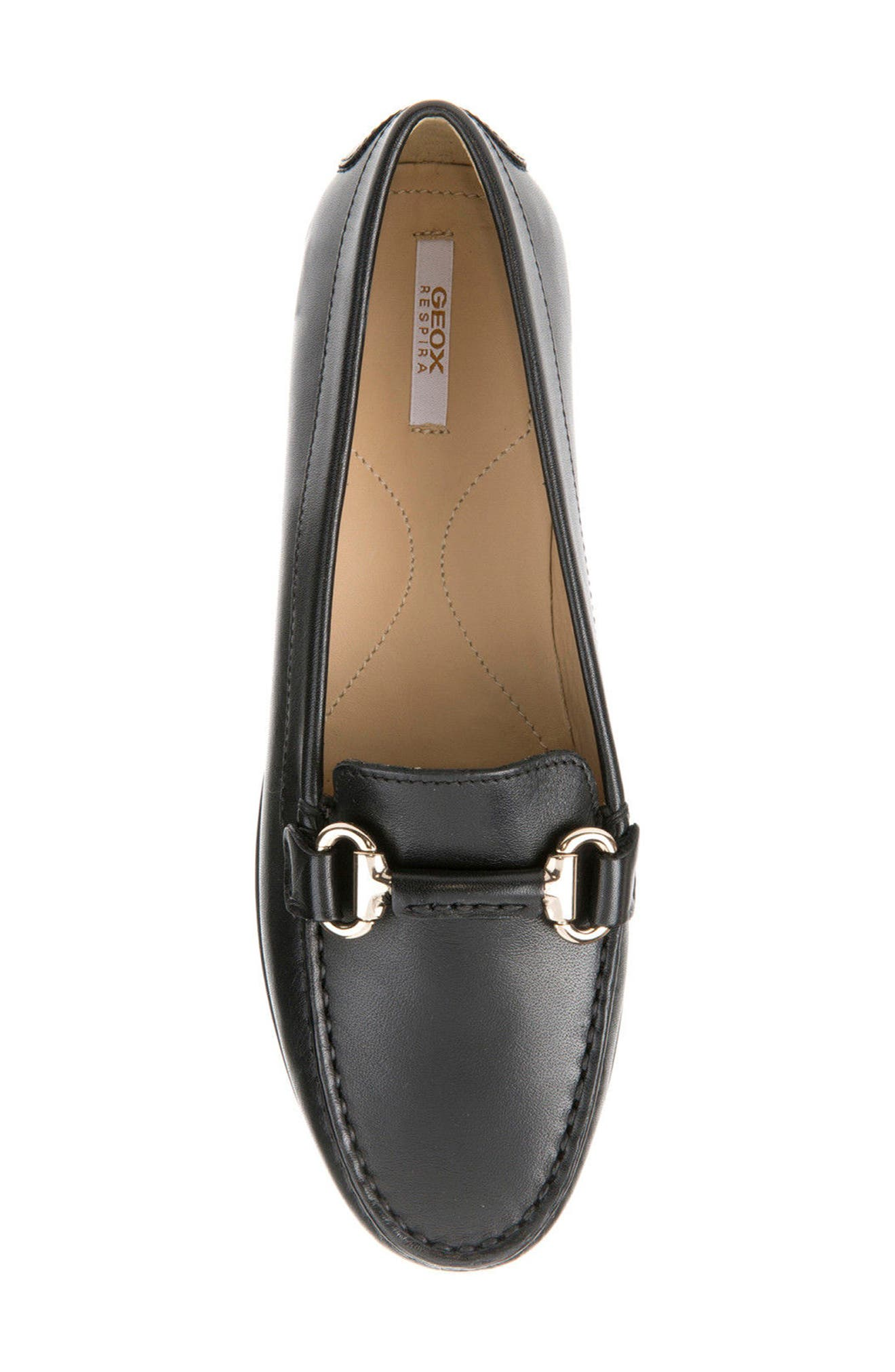 Elidia Buckle Loafer,                             Alternate thumbnail 5, color,                             Black Leather