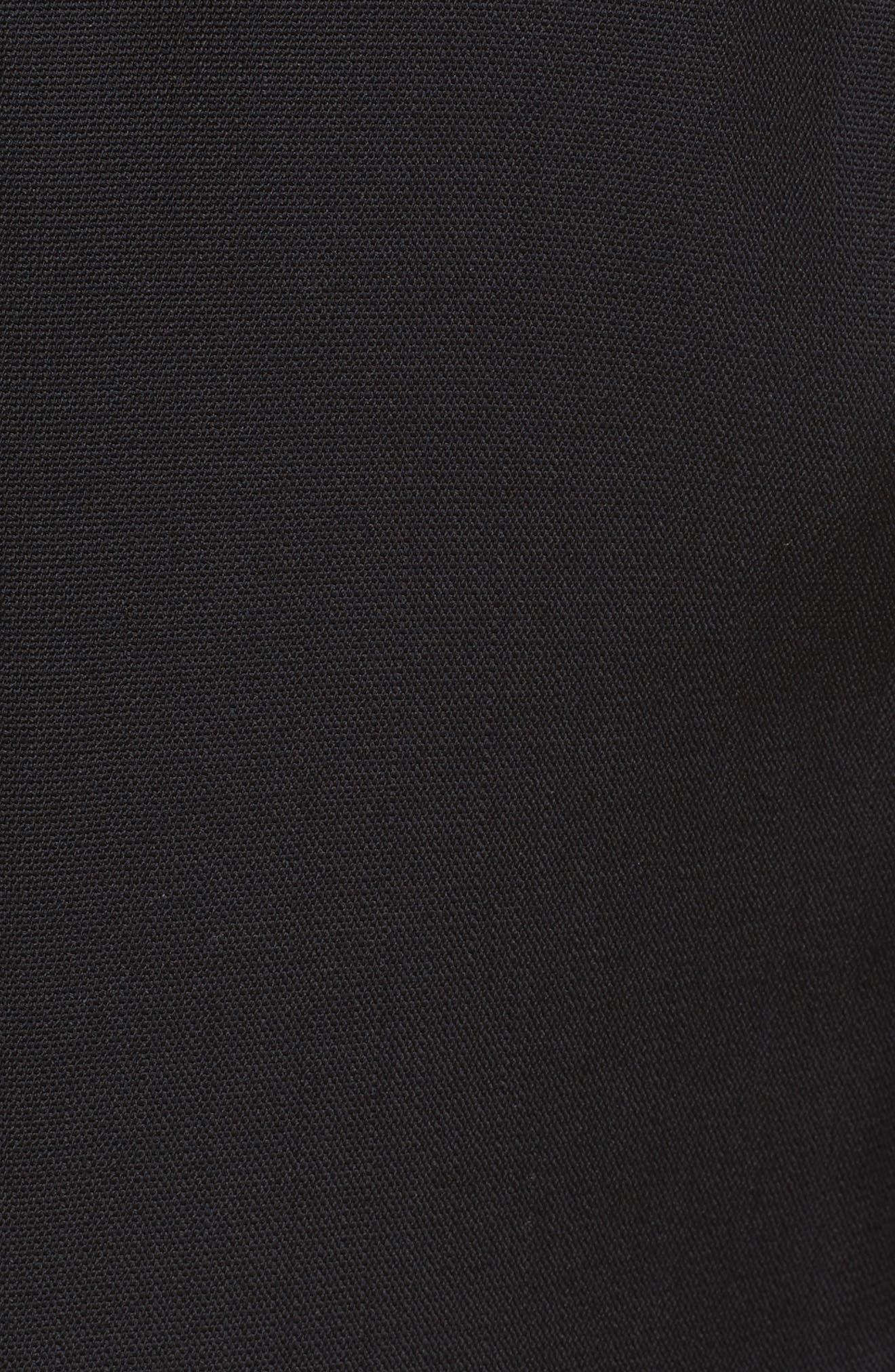 Wool Jacket with Detachable Hem,                             Alternate thumbnail 3, color,                             Black