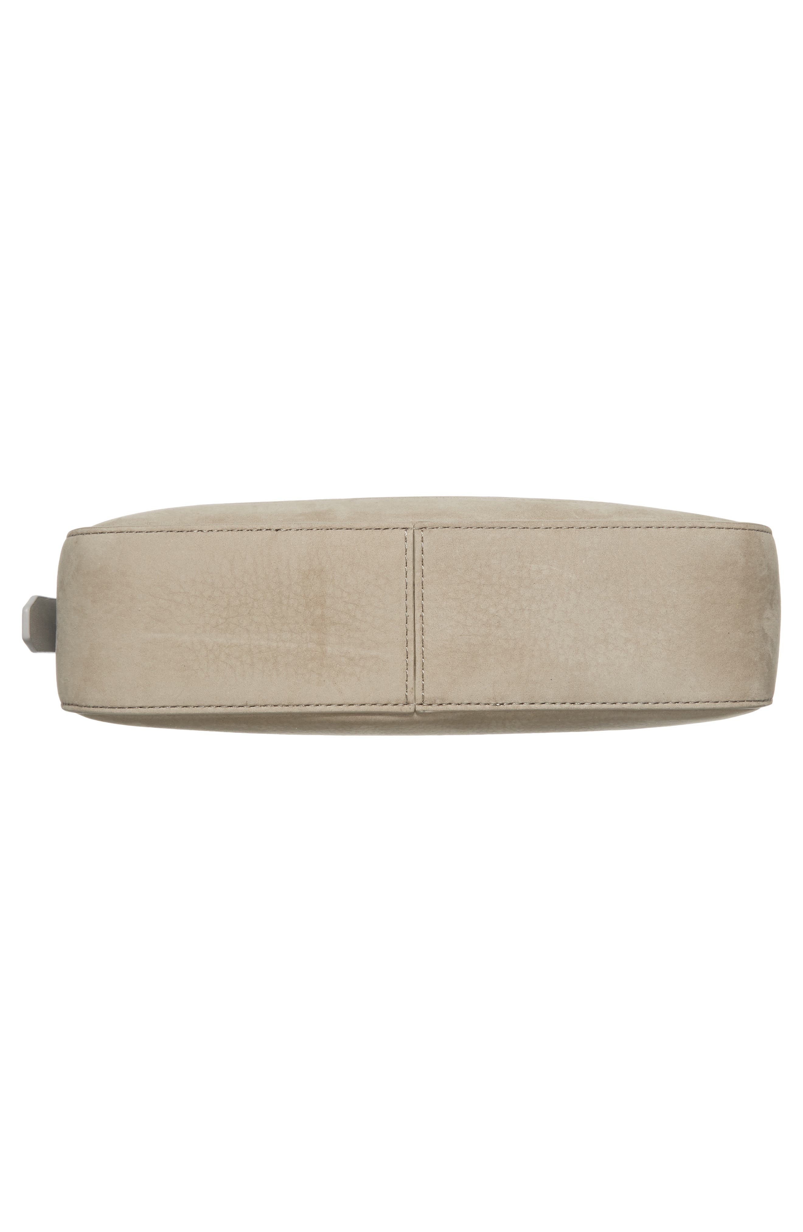 Cooper Nubuck Leather Shoulder Bag,                             Alternate thumbnail 6, color,                             Light Cement Grey