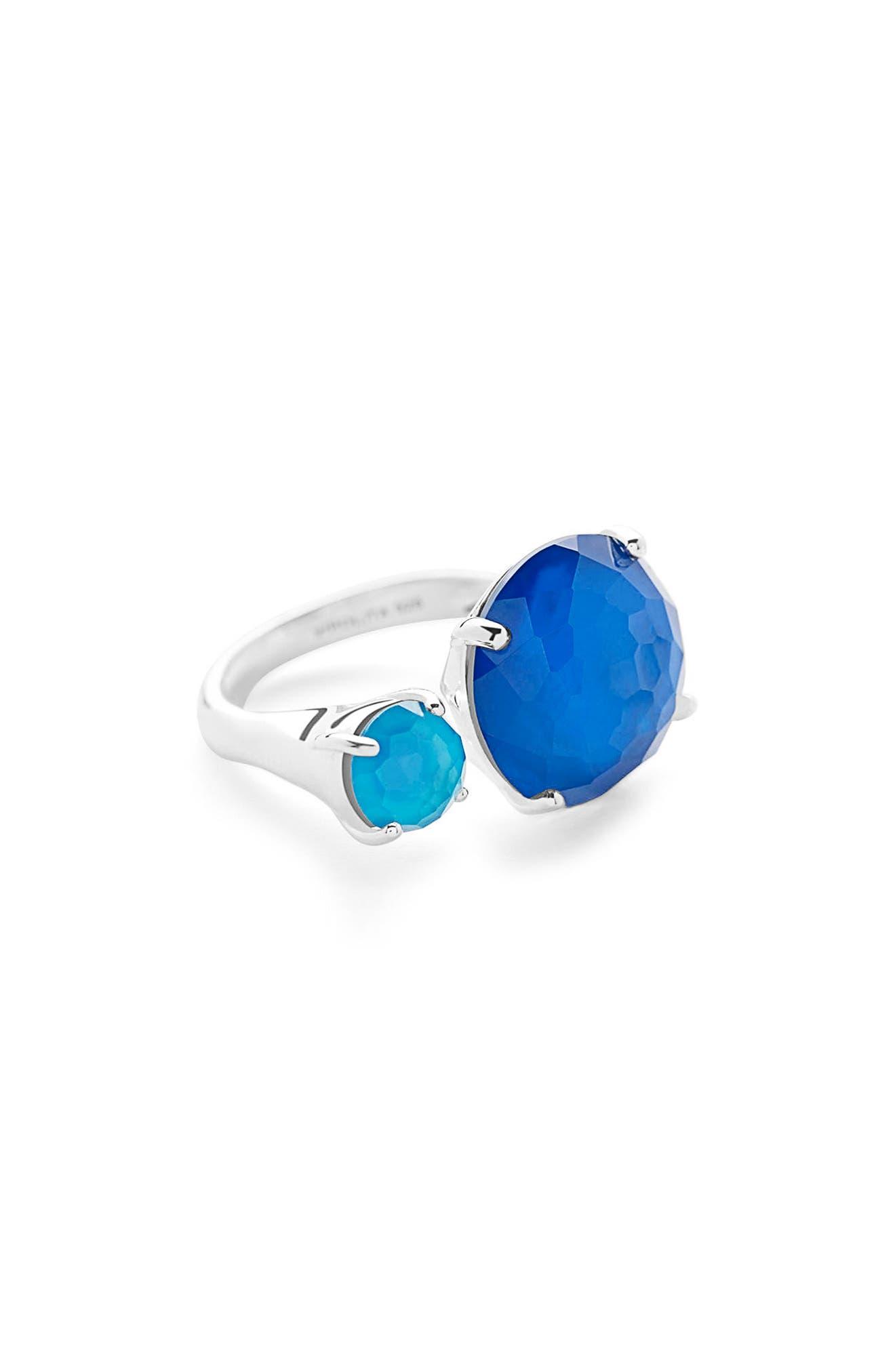 Wonderland Stone Ring,                         Main,                         color, Blue