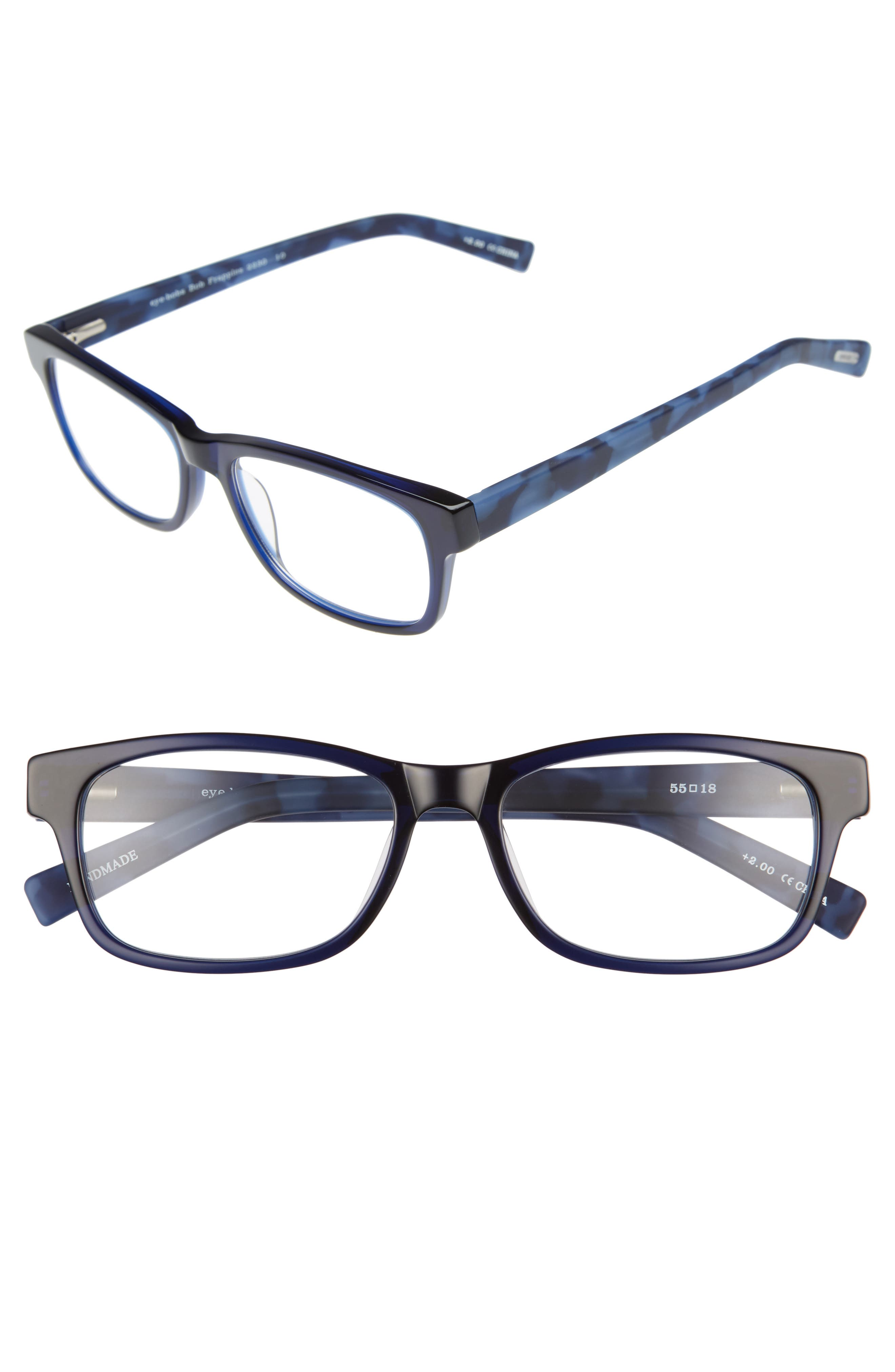 Bob Frapples 55mm Reading Glasses,                             Main thumbnail 1, color,                             Navy