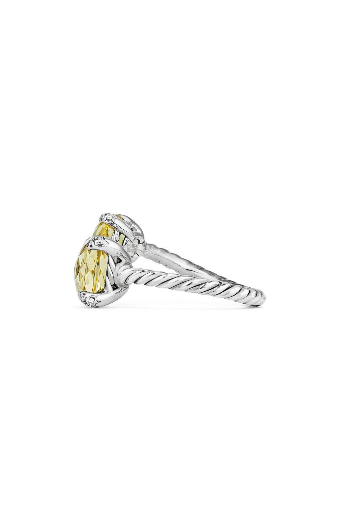 Alternate Image 2  - David Yurman Châtelaine Bypass Ring with Diamonds