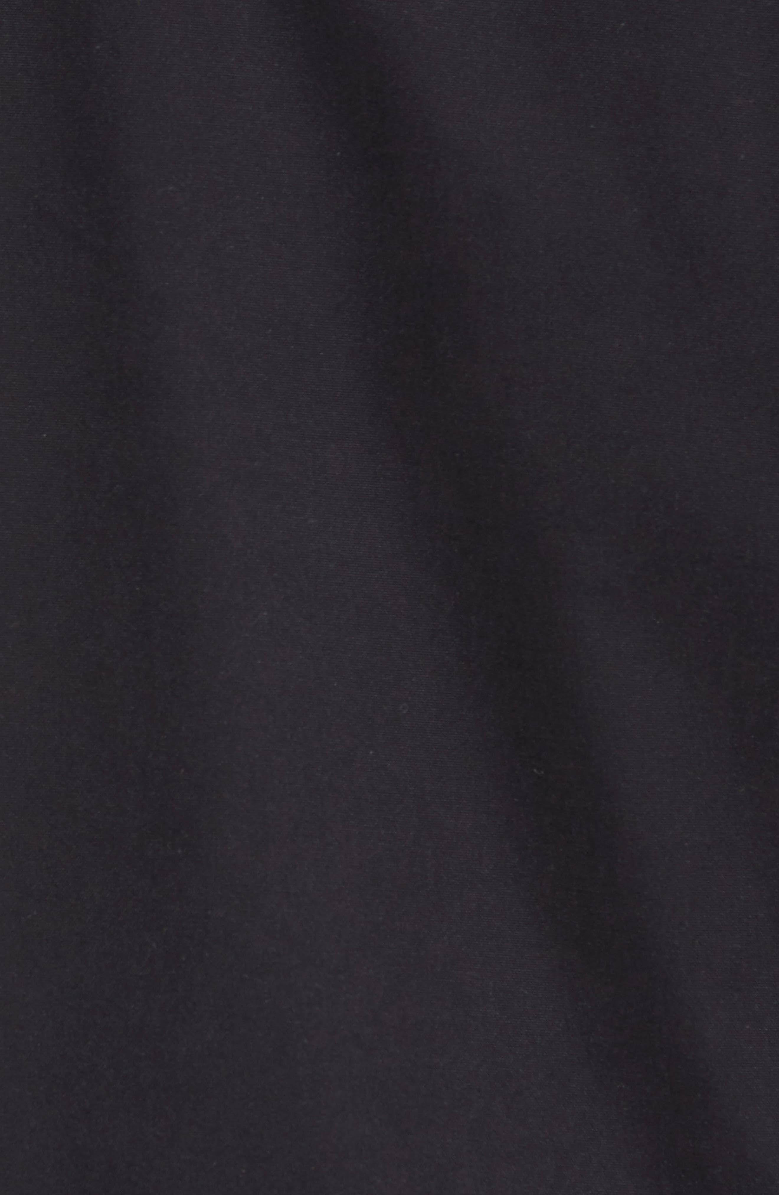 Hooded Bomber Jacket,                             Alternate thumbnail 5, color,                             Black