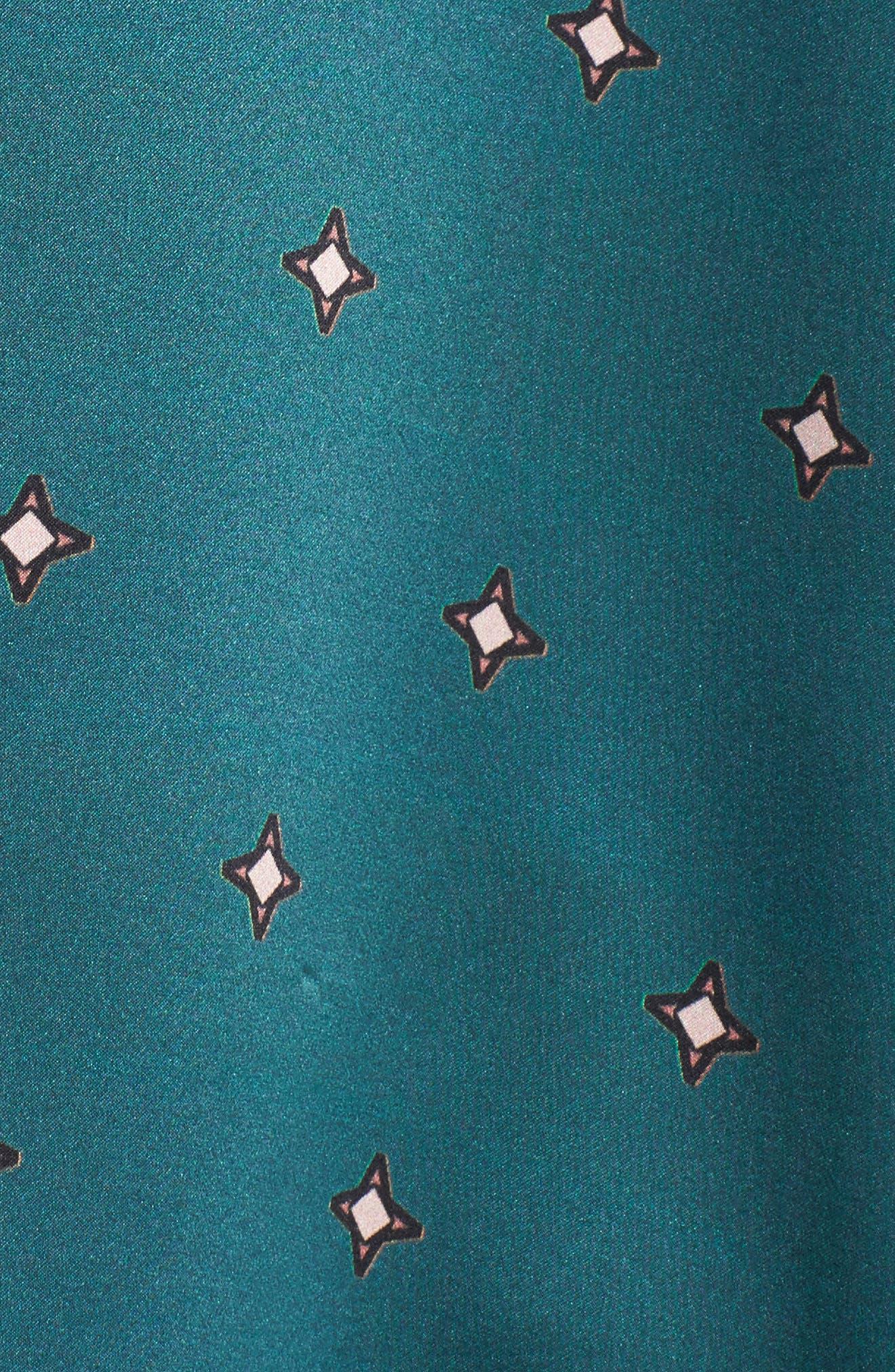 Print Silk Pajama Top,                             Alternate thumbnail 7, color,                             Jade Star