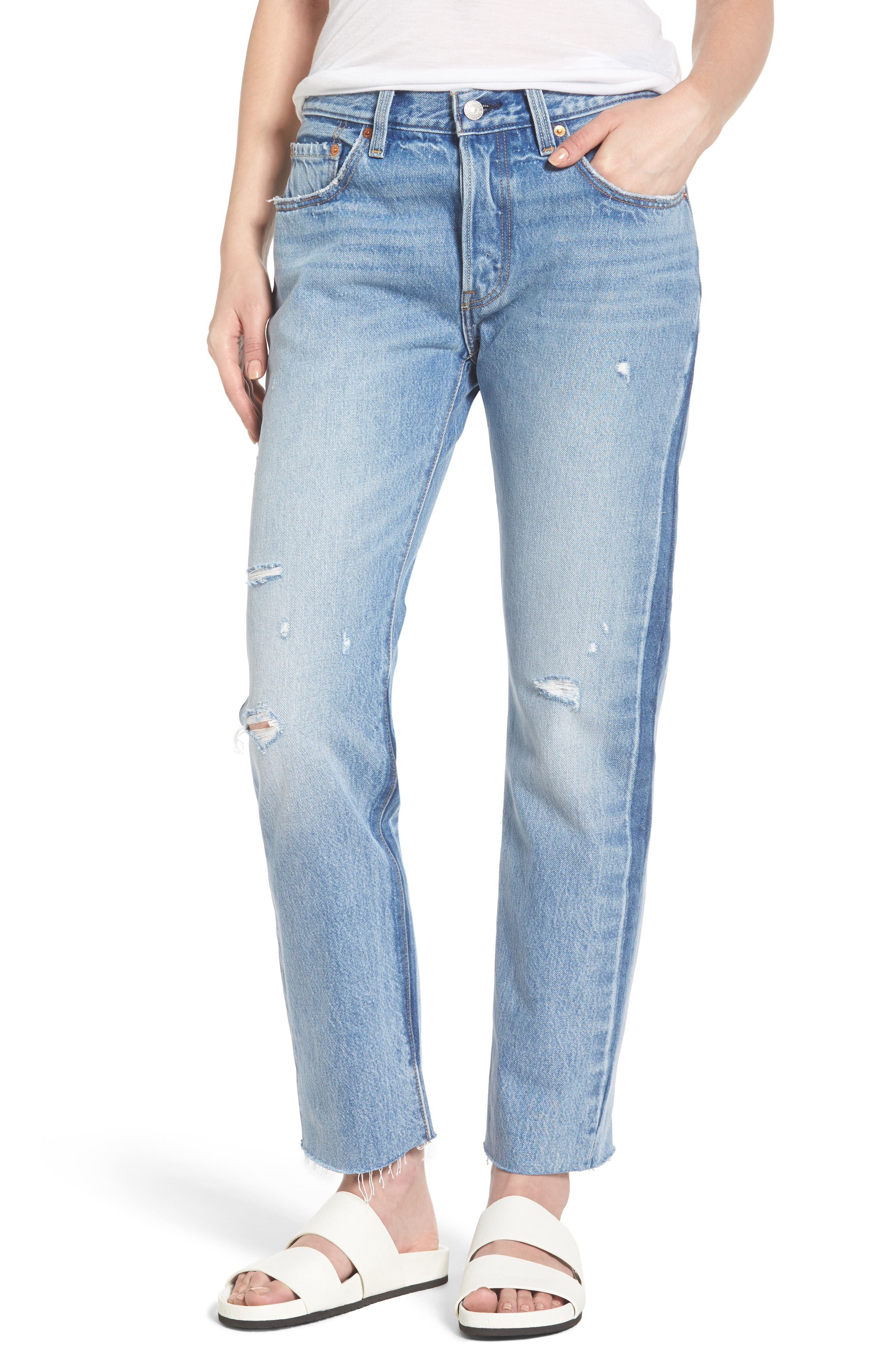 Alternate Image 1 Selected - Levi's® 501 Crop Jeans (You Pretty Thing)