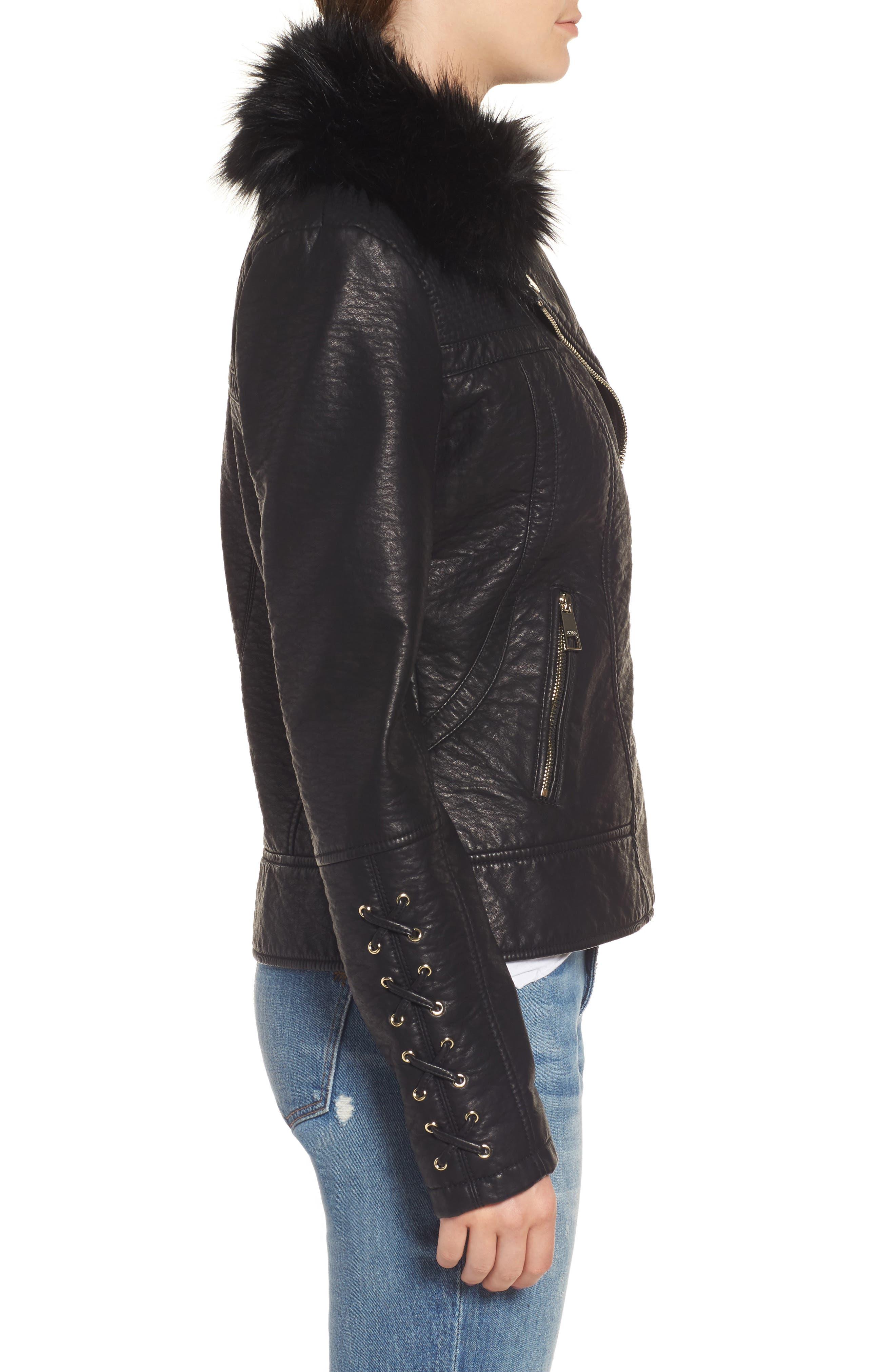 Alternate Image 3  - GUESS Faux Fur Collar Jacket