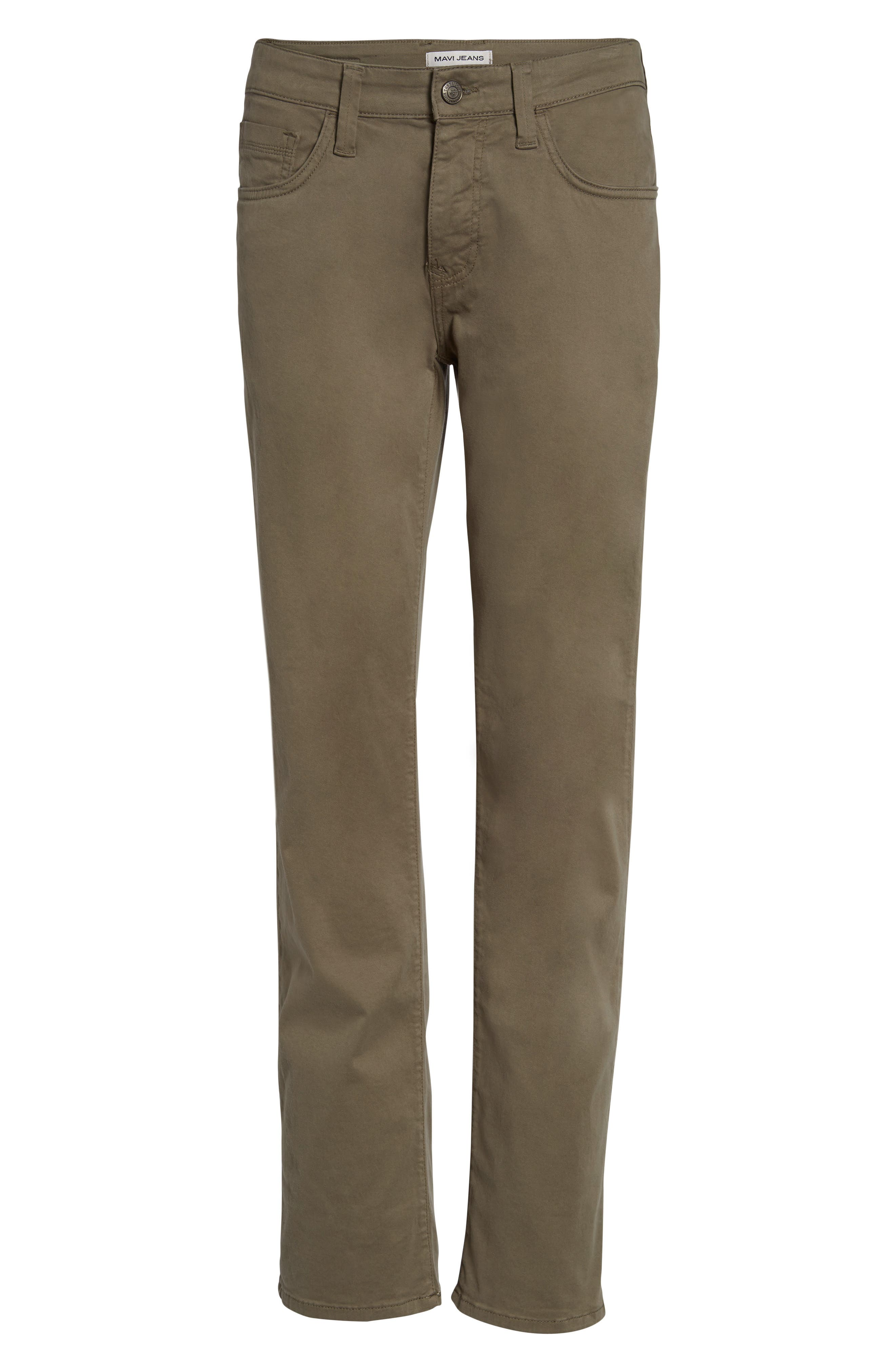 Zach Straight Fit Twill Pants,                             Alternate thumbnail 6, color,                             Dusty Olive Twill