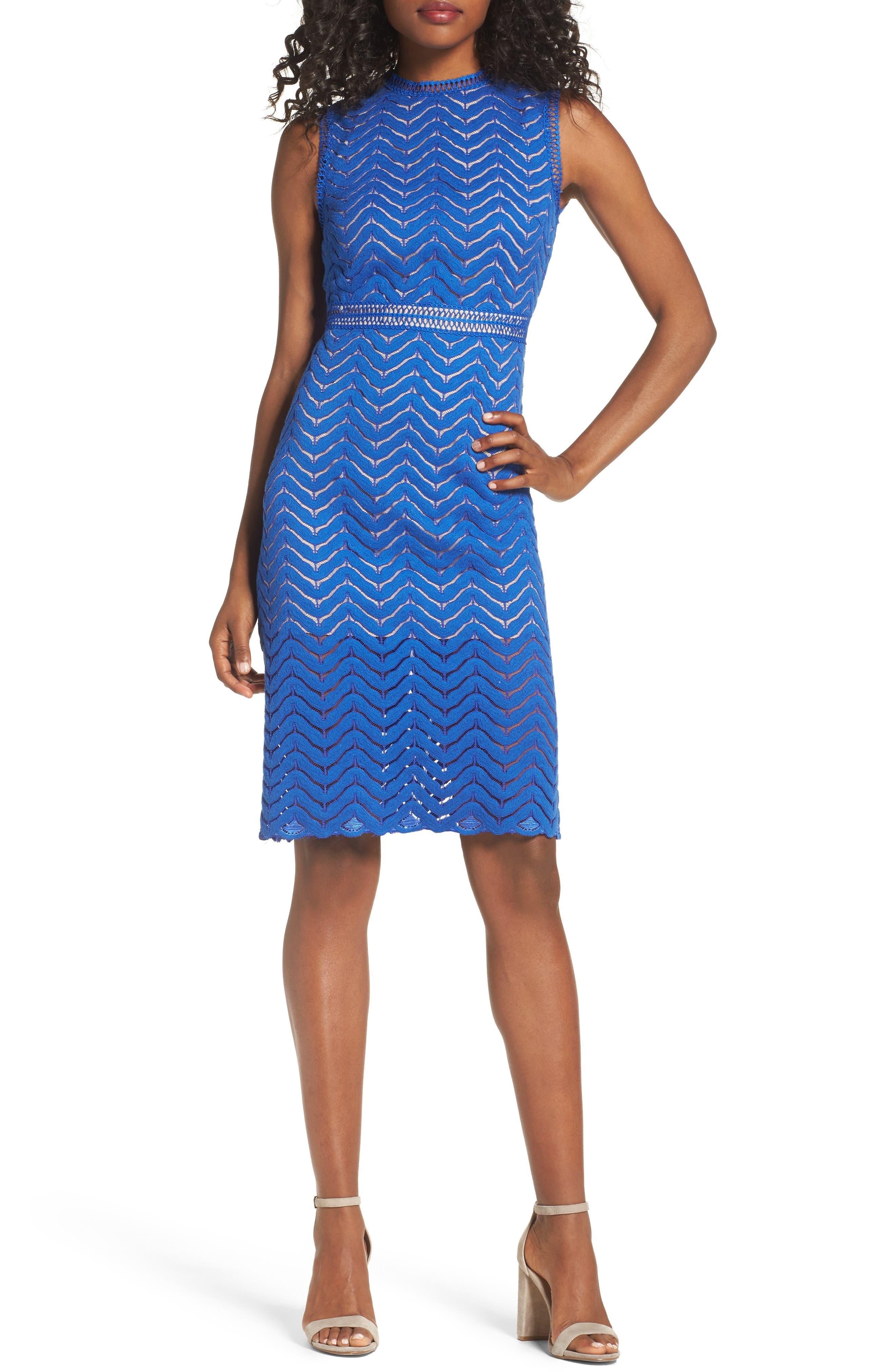 CHELSEA28 Lace Sheath Dress