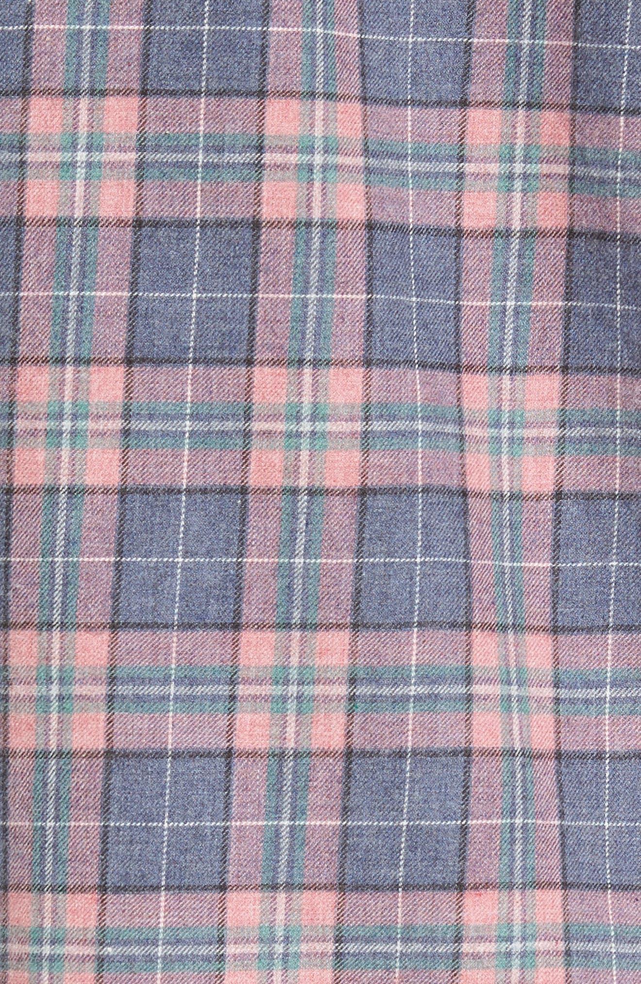Alternate Image 5  - Barney Cools Florida Short Sleeve Plaid Shirt