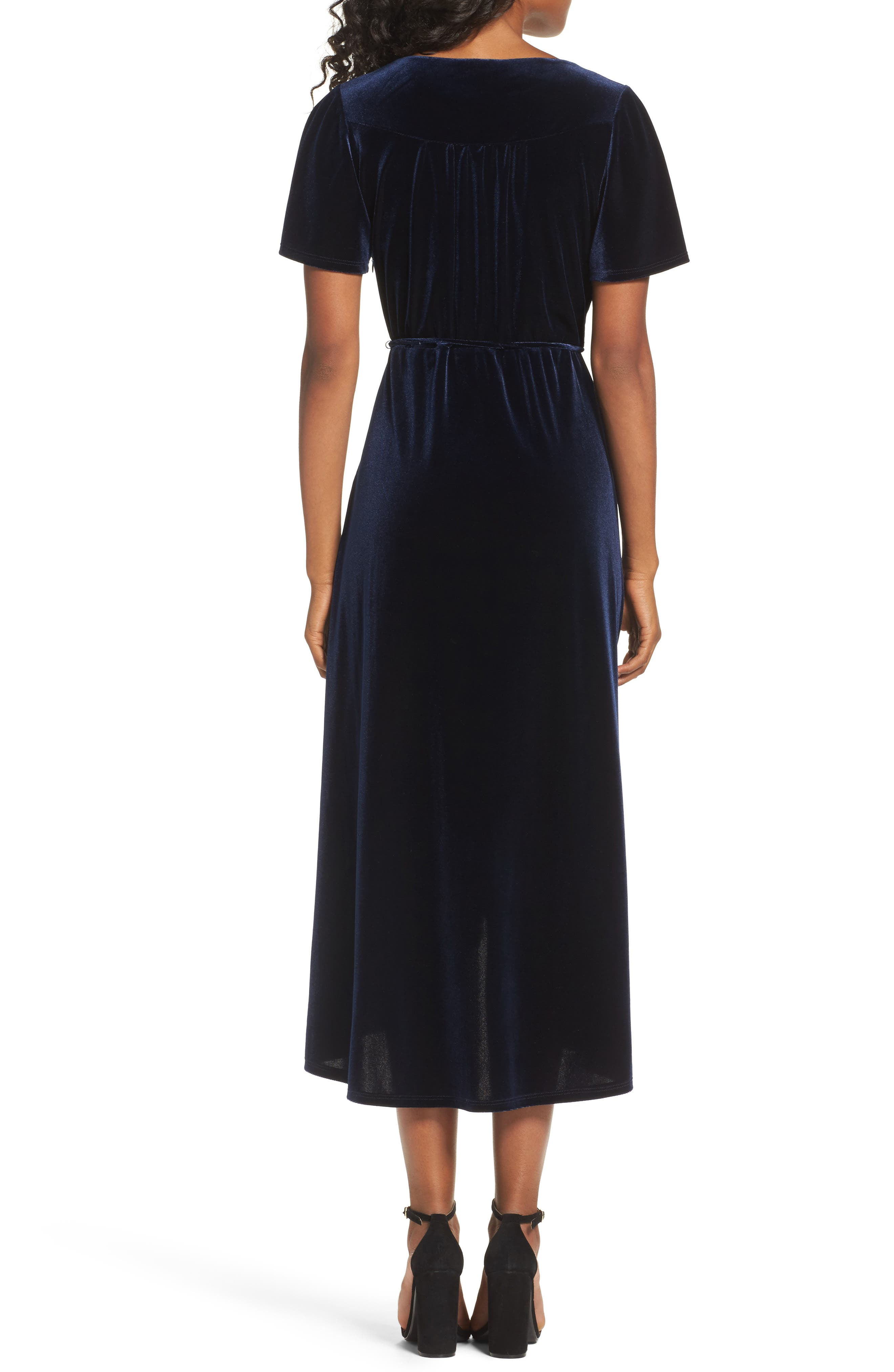 Alternate Image 2  - Chelsea28 Velvet Midi Dress